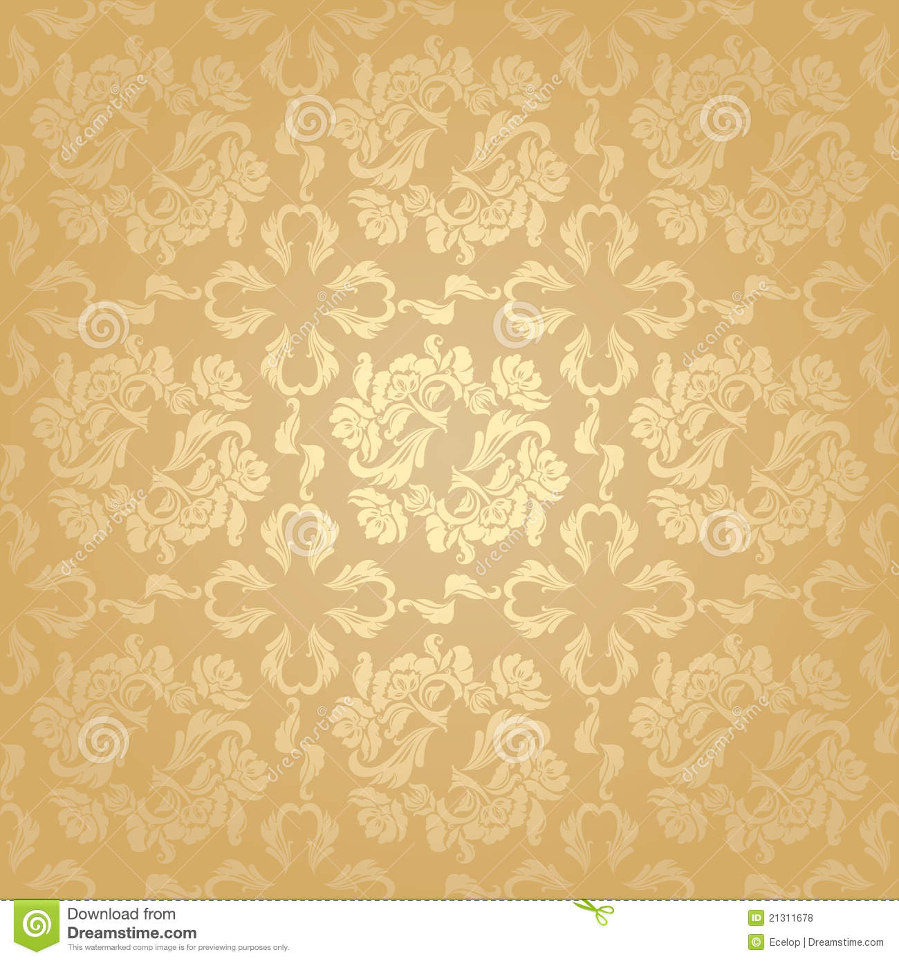 to wear - Flower gold background video