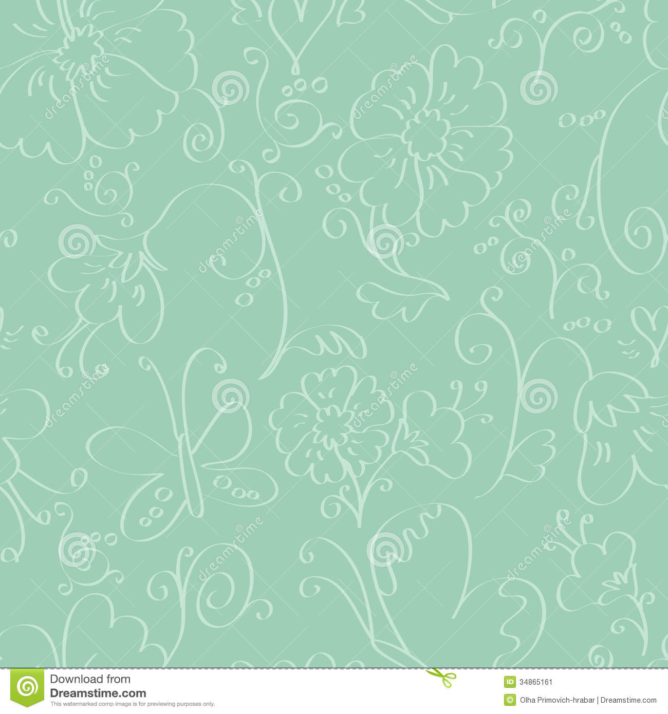 Seamless Background With Flowers Stock Vector Illustration Of