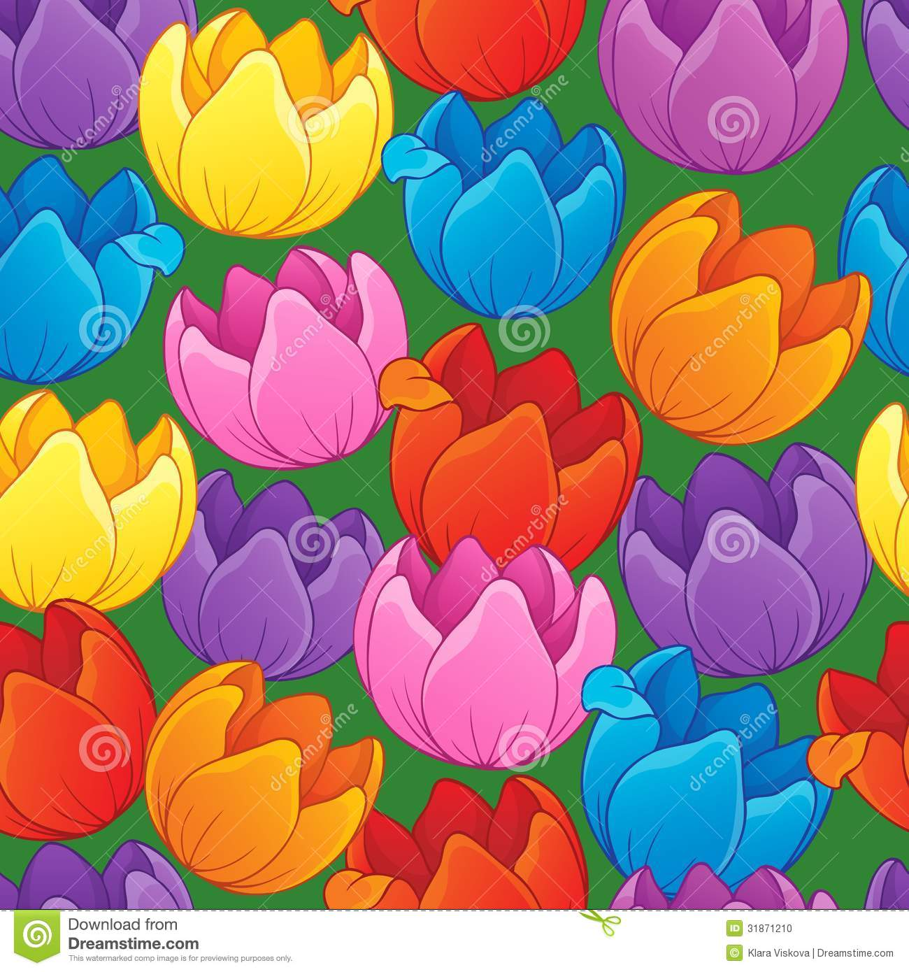 Seamless background flowery topic 3 - eps10 vector illustration.