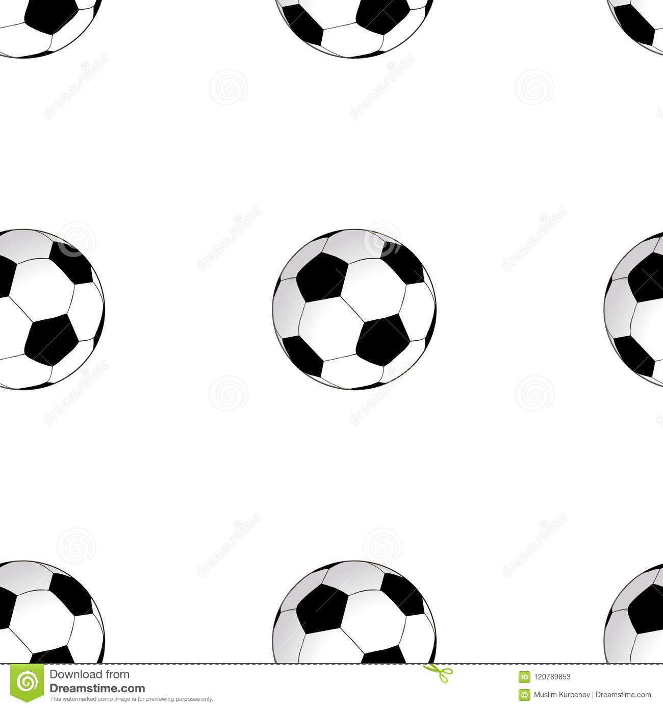 seamless background with football soccer ball vector stock vector