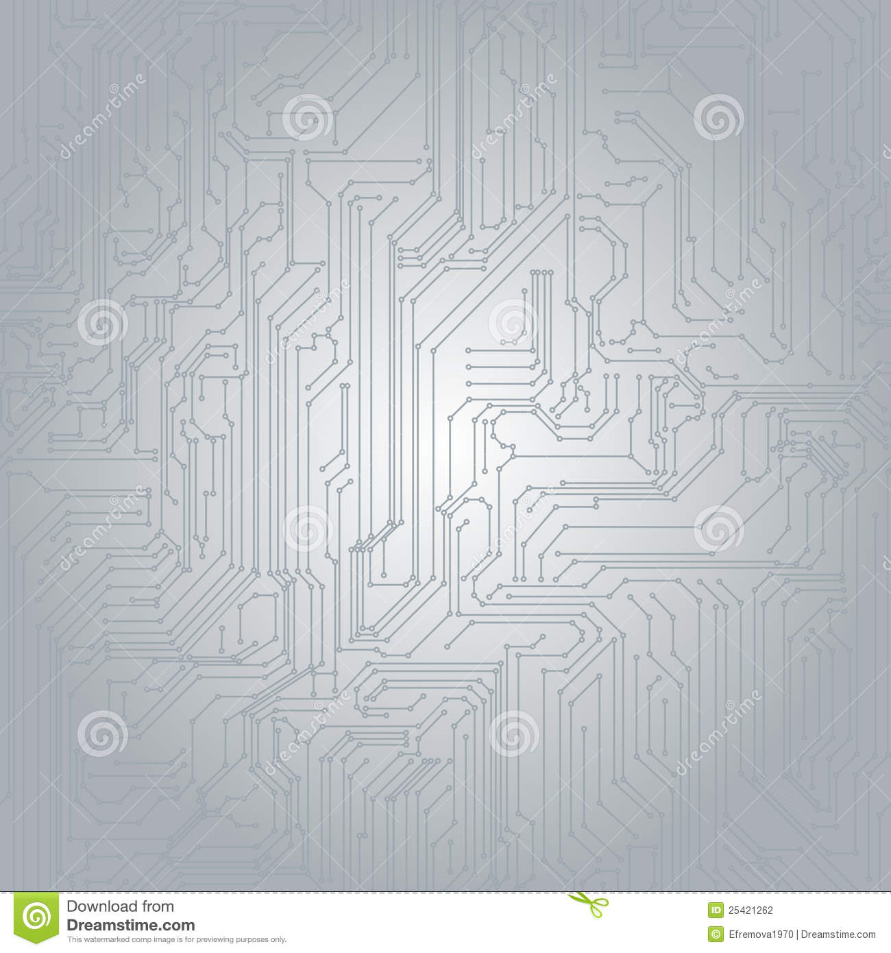 Seamless Background In The Form Of Printed Circuit Stock Vector ...