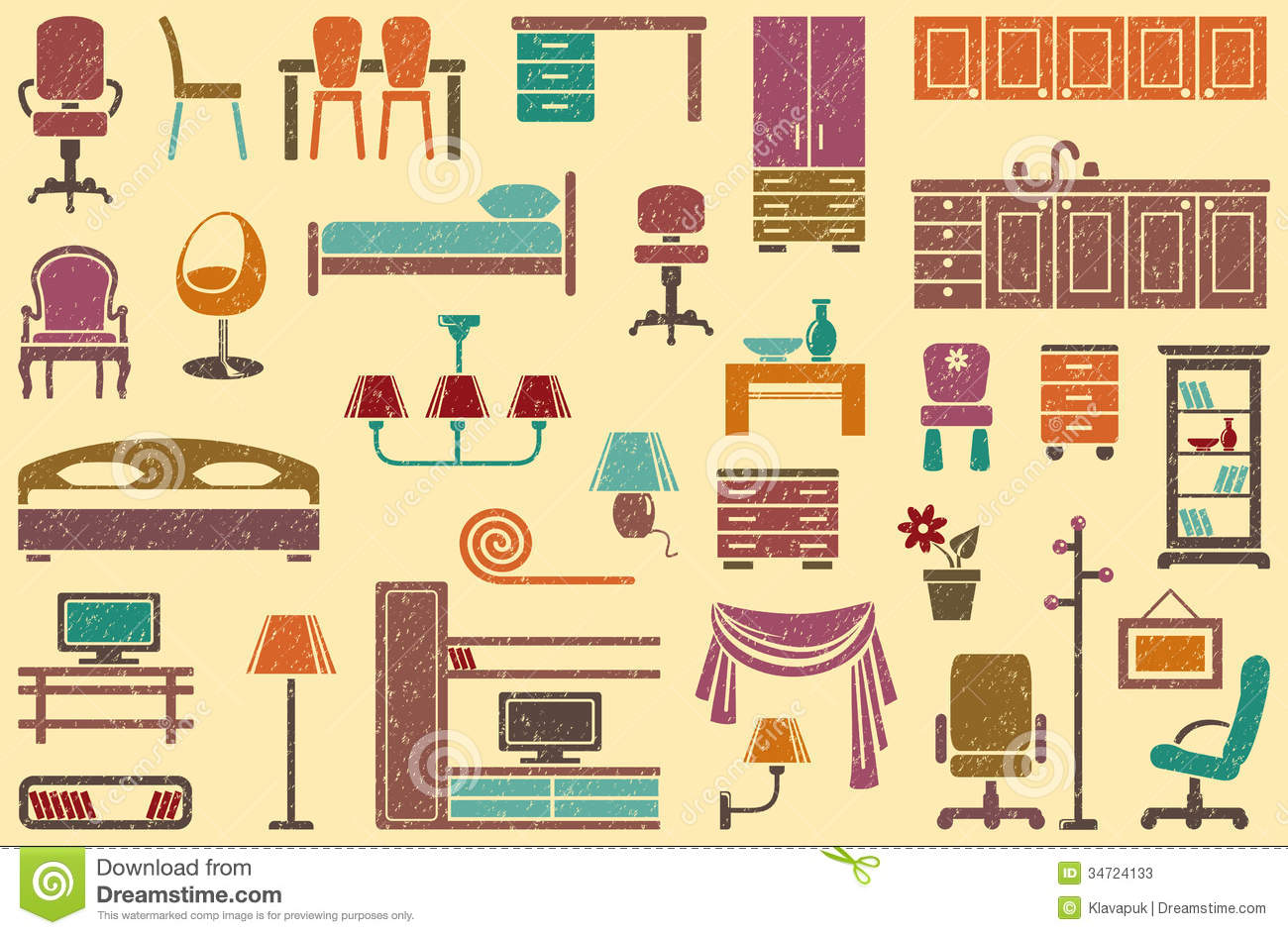 Seamless Background On A Furniture Theme Stock Photos ...