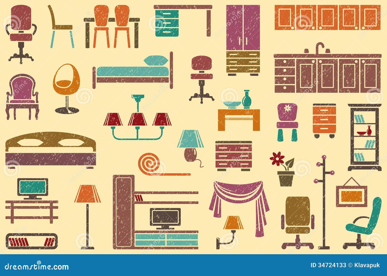 Seamless Background On A Furniture Theme Stock Photos Image 34724133