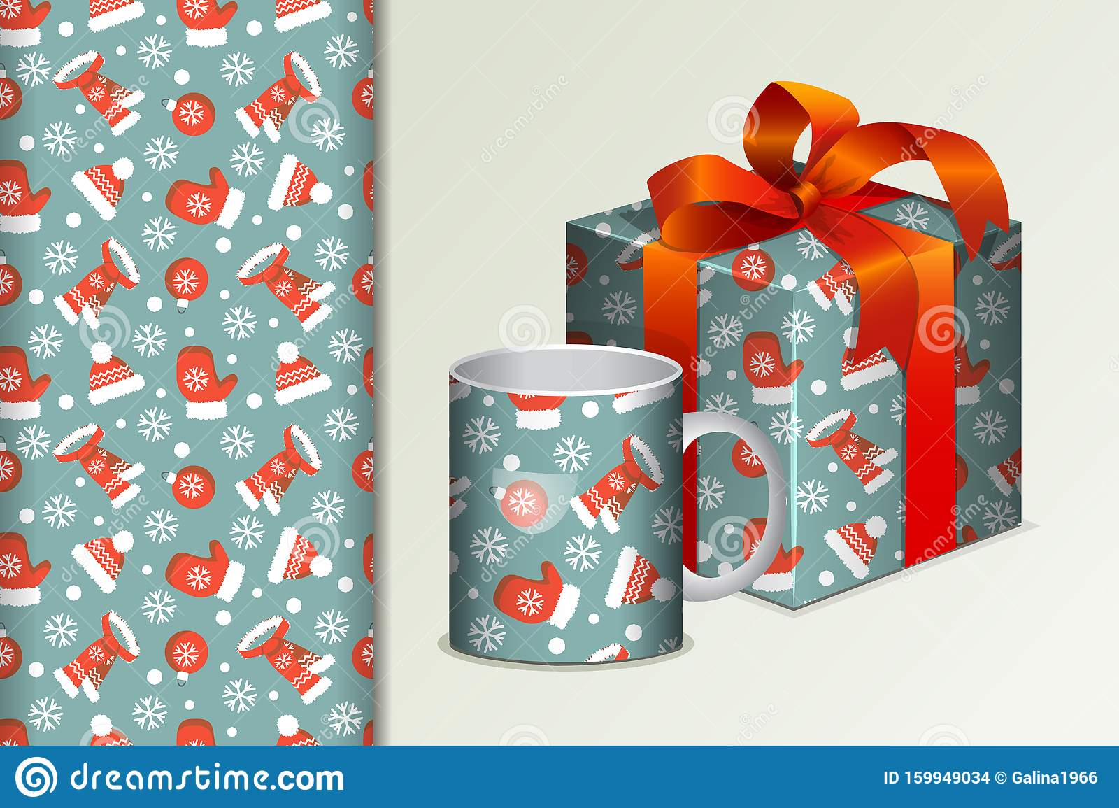 seamless background gift and mug and mock up with snowman and seamless pattern concept for design of fabric and paper for printing stock illustration illustration of geometric postcards 159949034 dreamstime com
