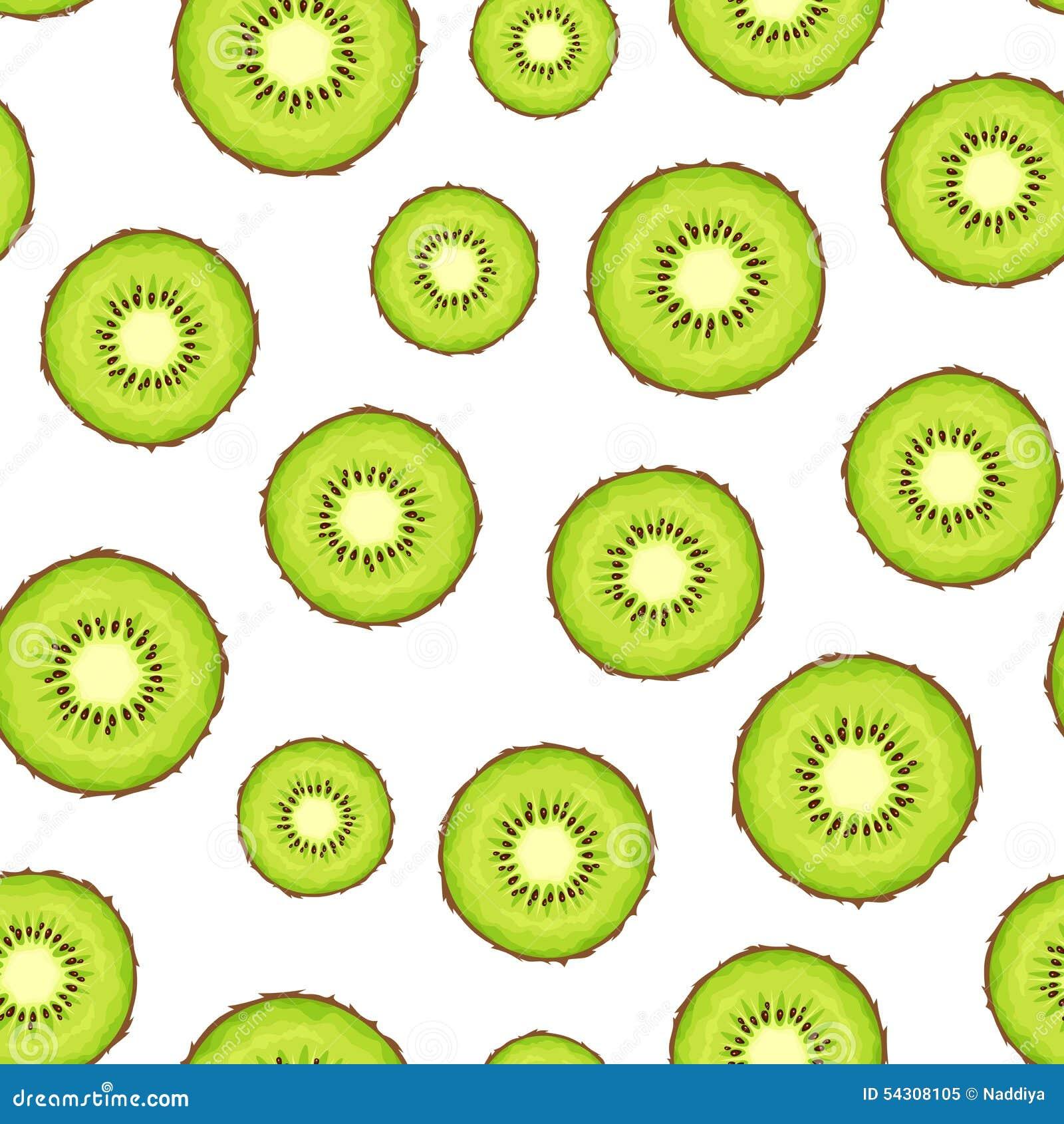 Kiwi Slice Vector Seam...