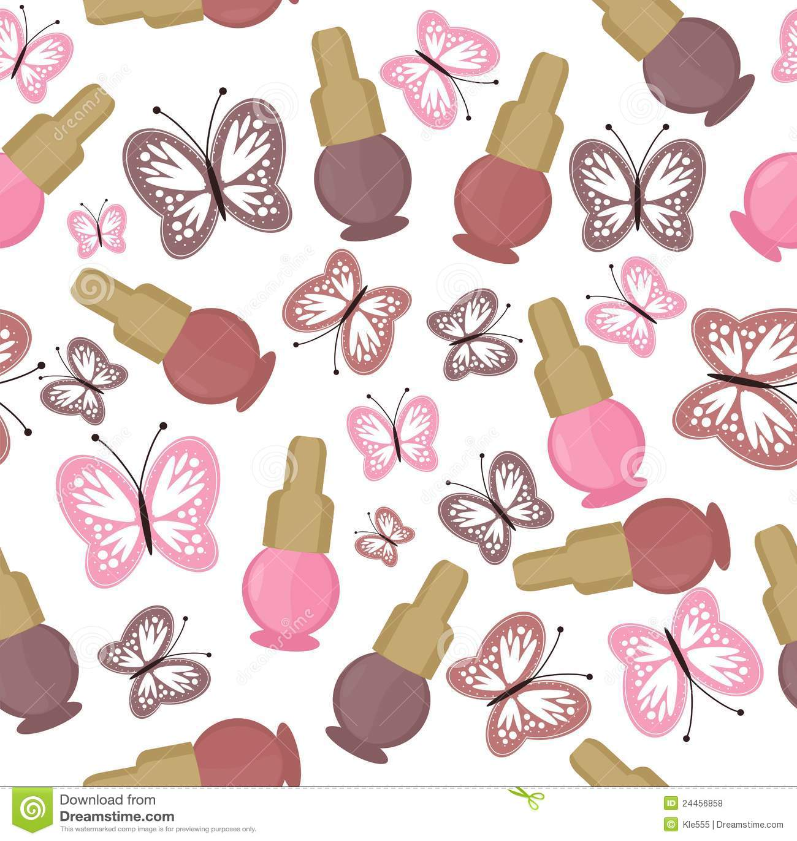Seamless Background With Nail Polish Stock Illustration Image 24456858
