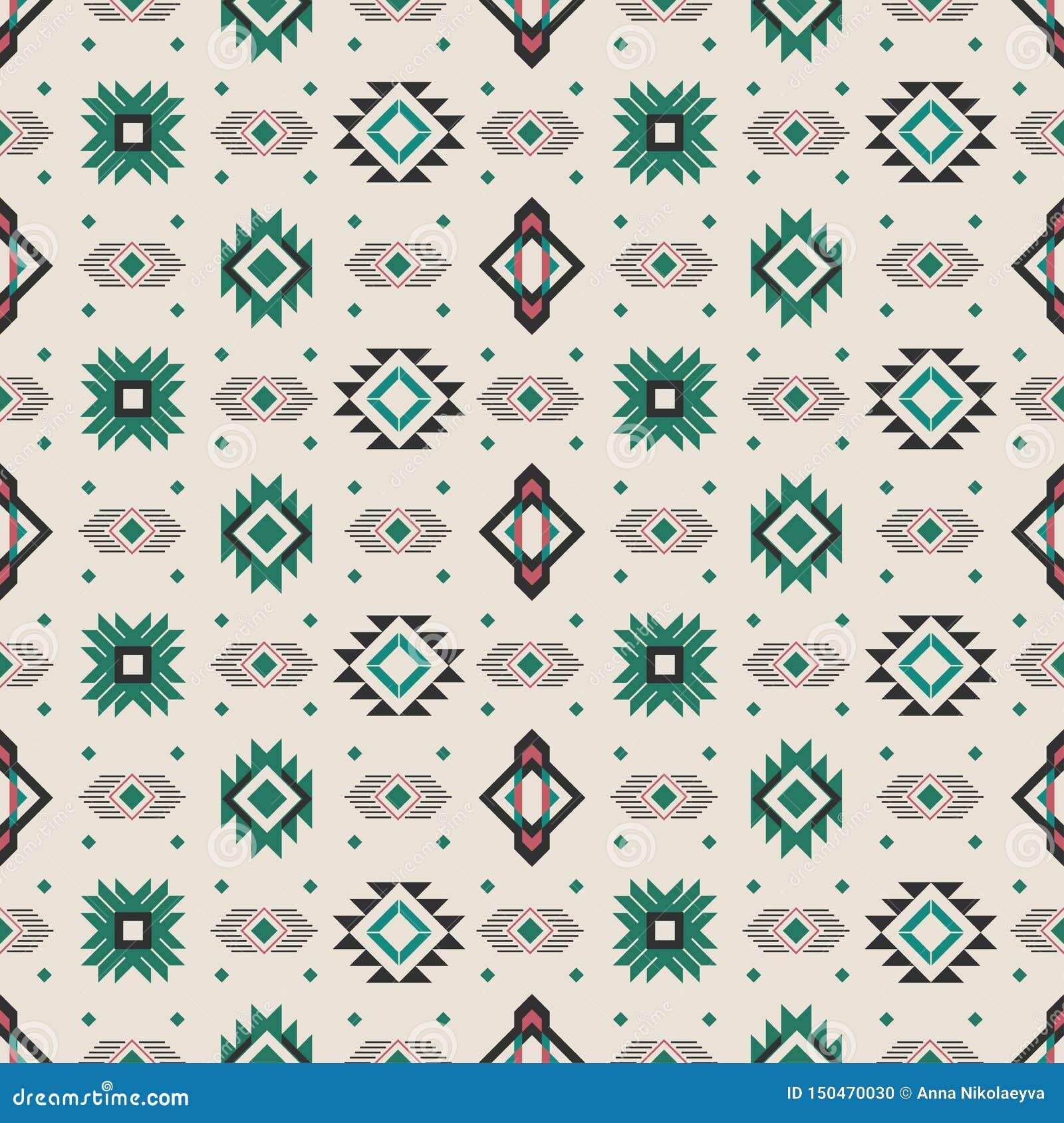 Seamless background. National pattern. Folk
