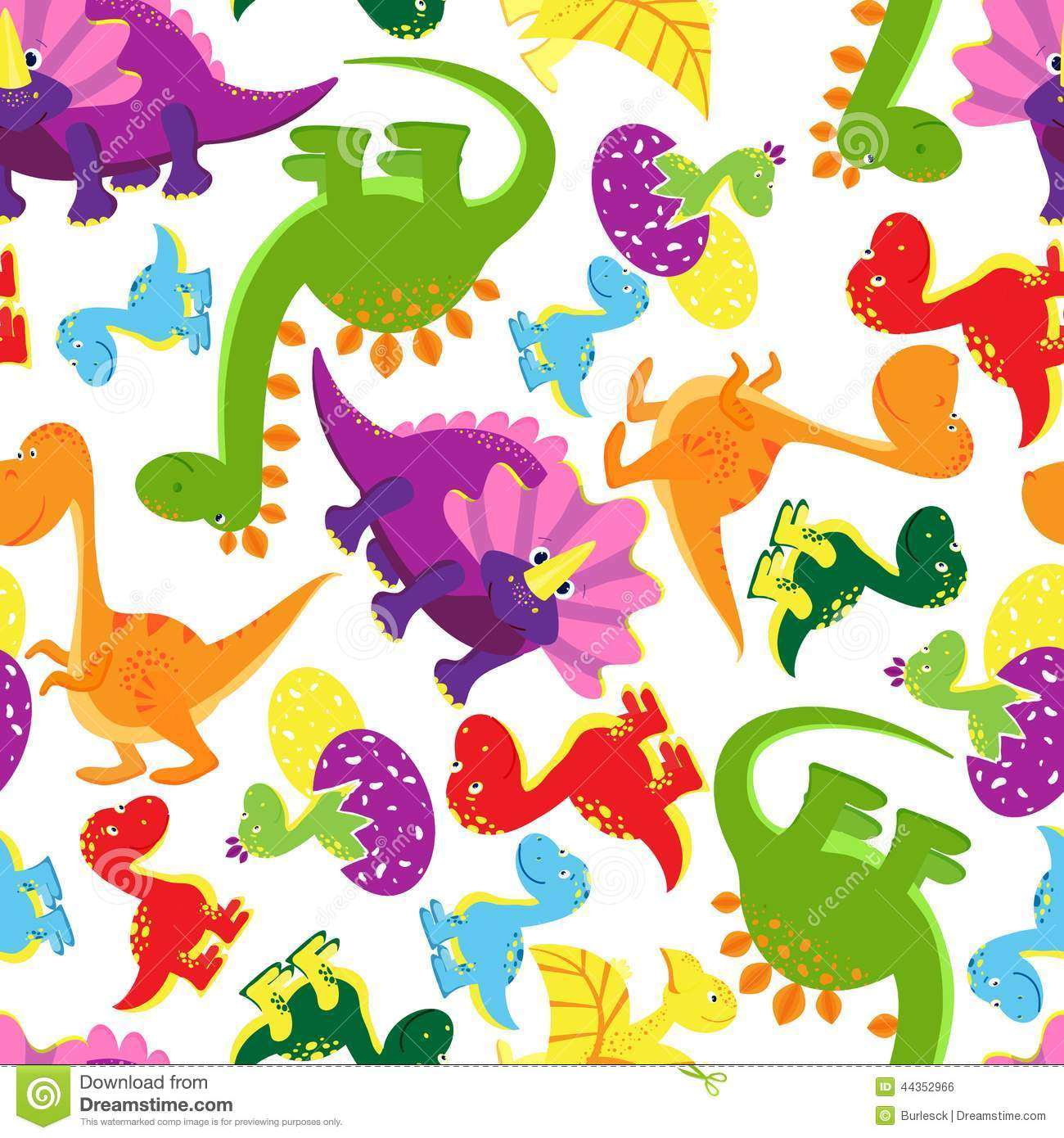 Seamless background pattern of baby dinosaurs stock vector illustration of smiling - Paperboy dinosaur wallpaper ...