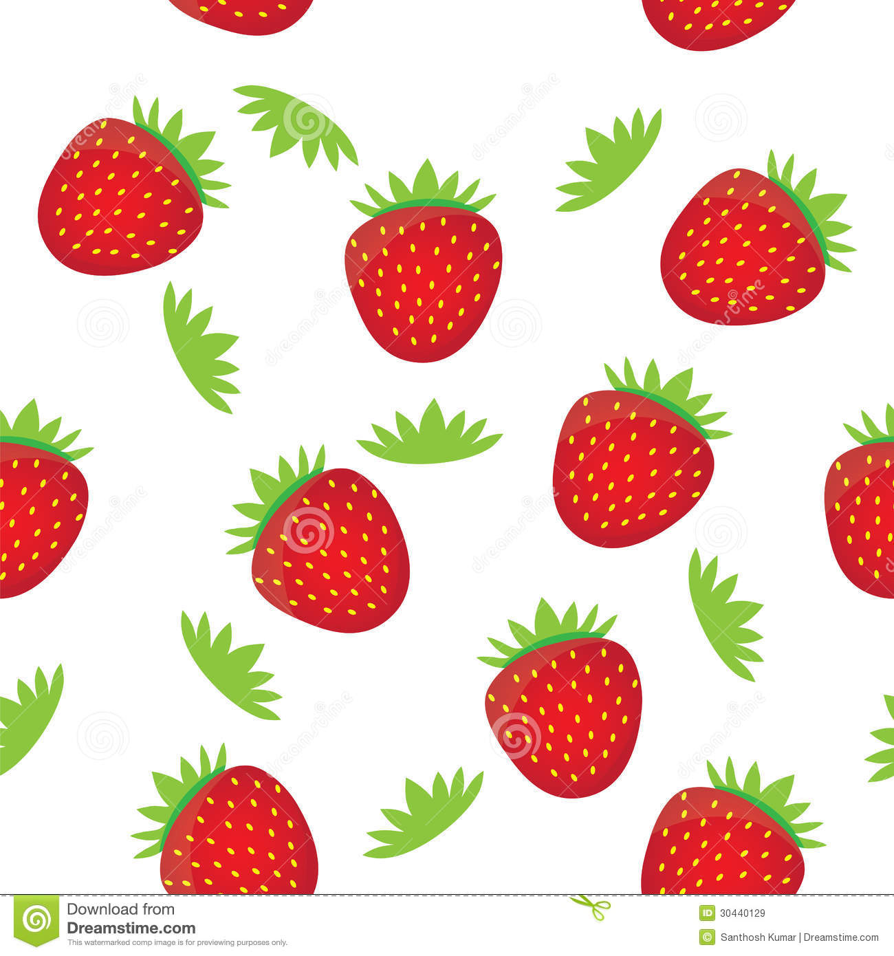 Seamless Background Pattern- Colorful Strawberry Royalty ...