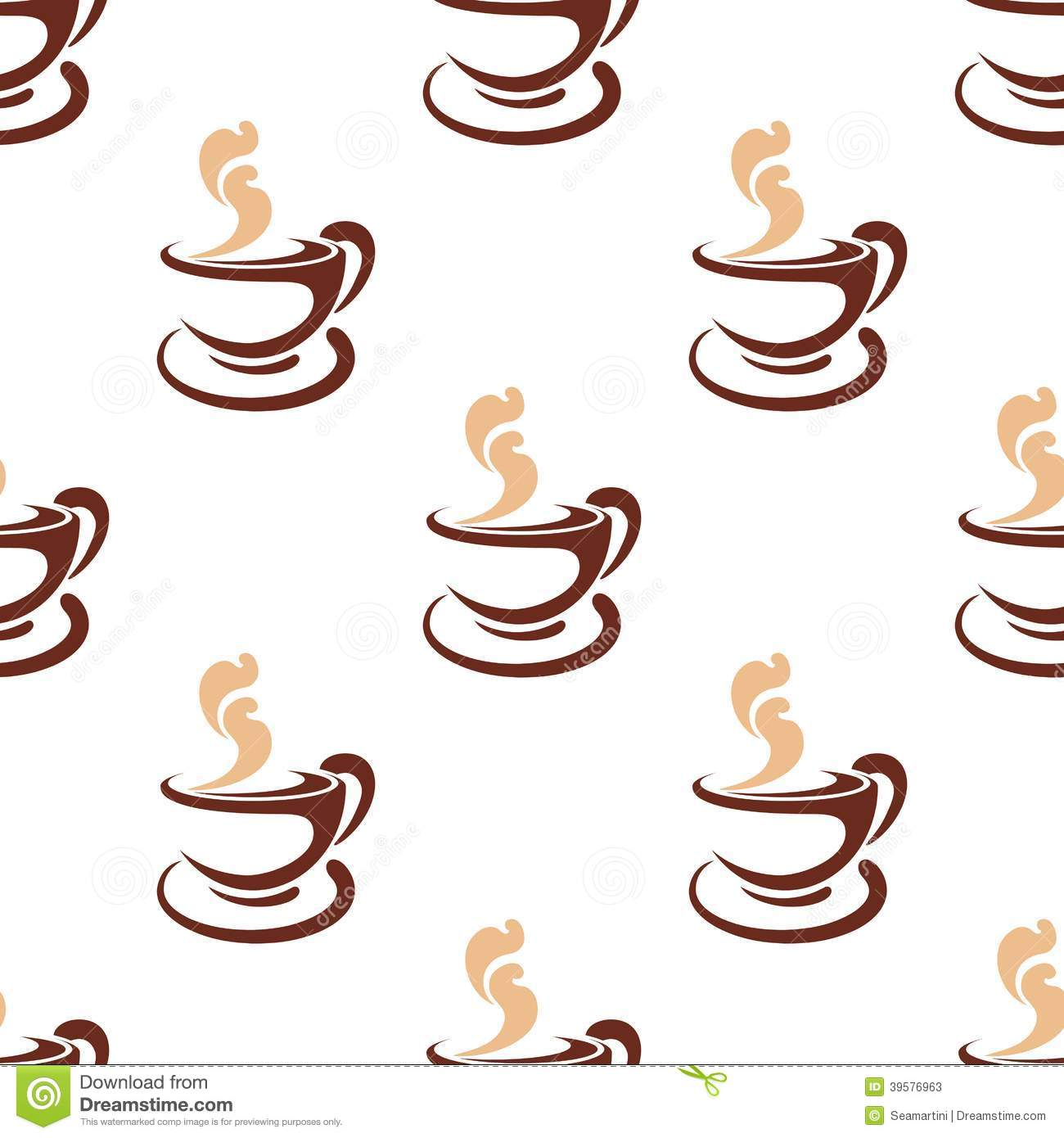 seamless doodle coffee pattern - photo #31