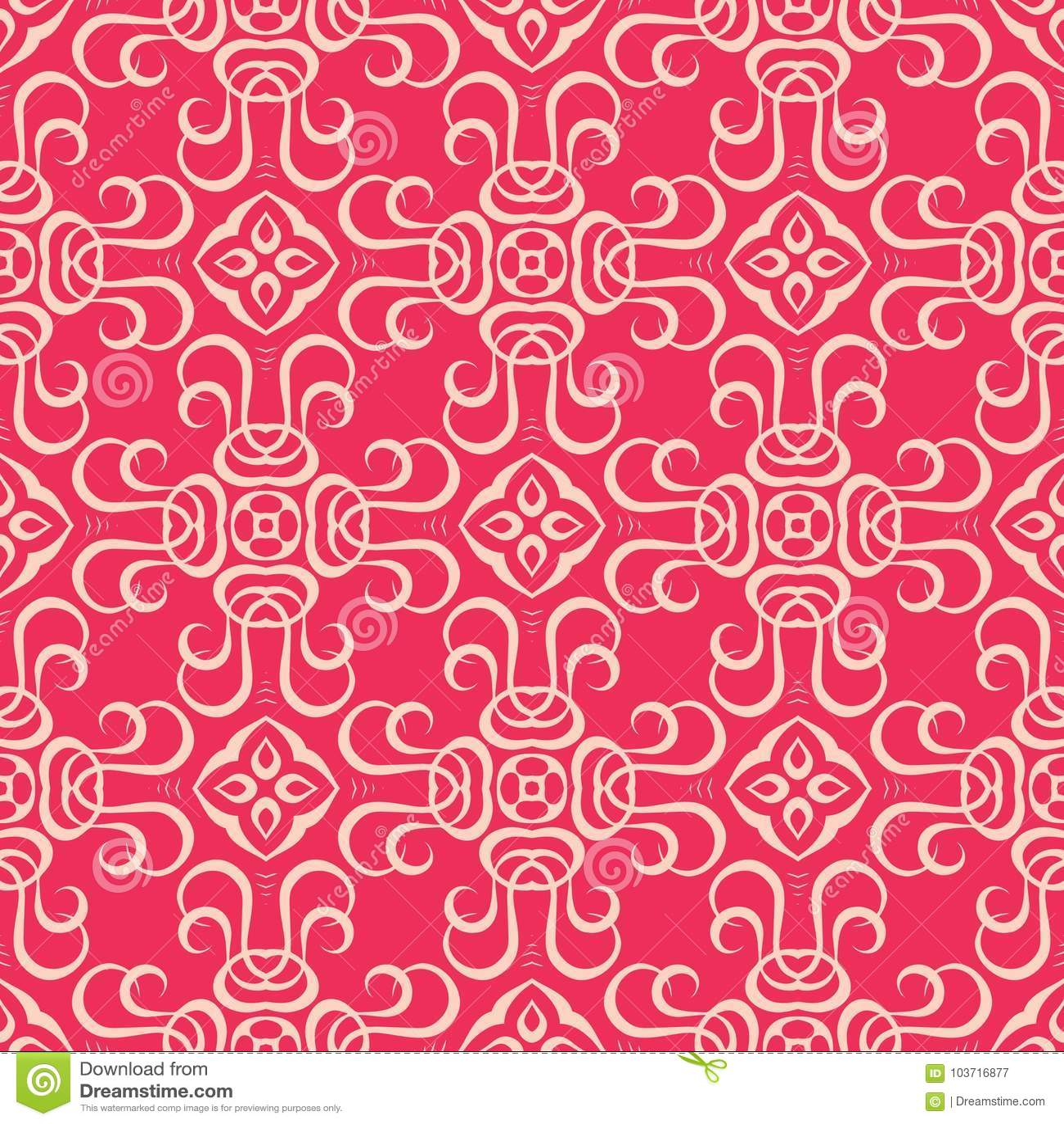 2d blocked Reddish pink base seamless pattern background illustration