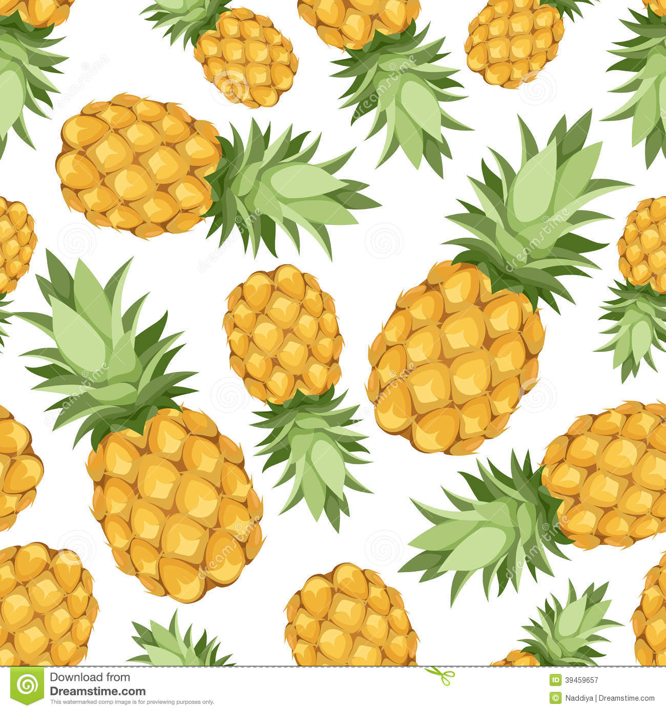Seamless Background With Pineapples. Vector Illust Stock Vector ...