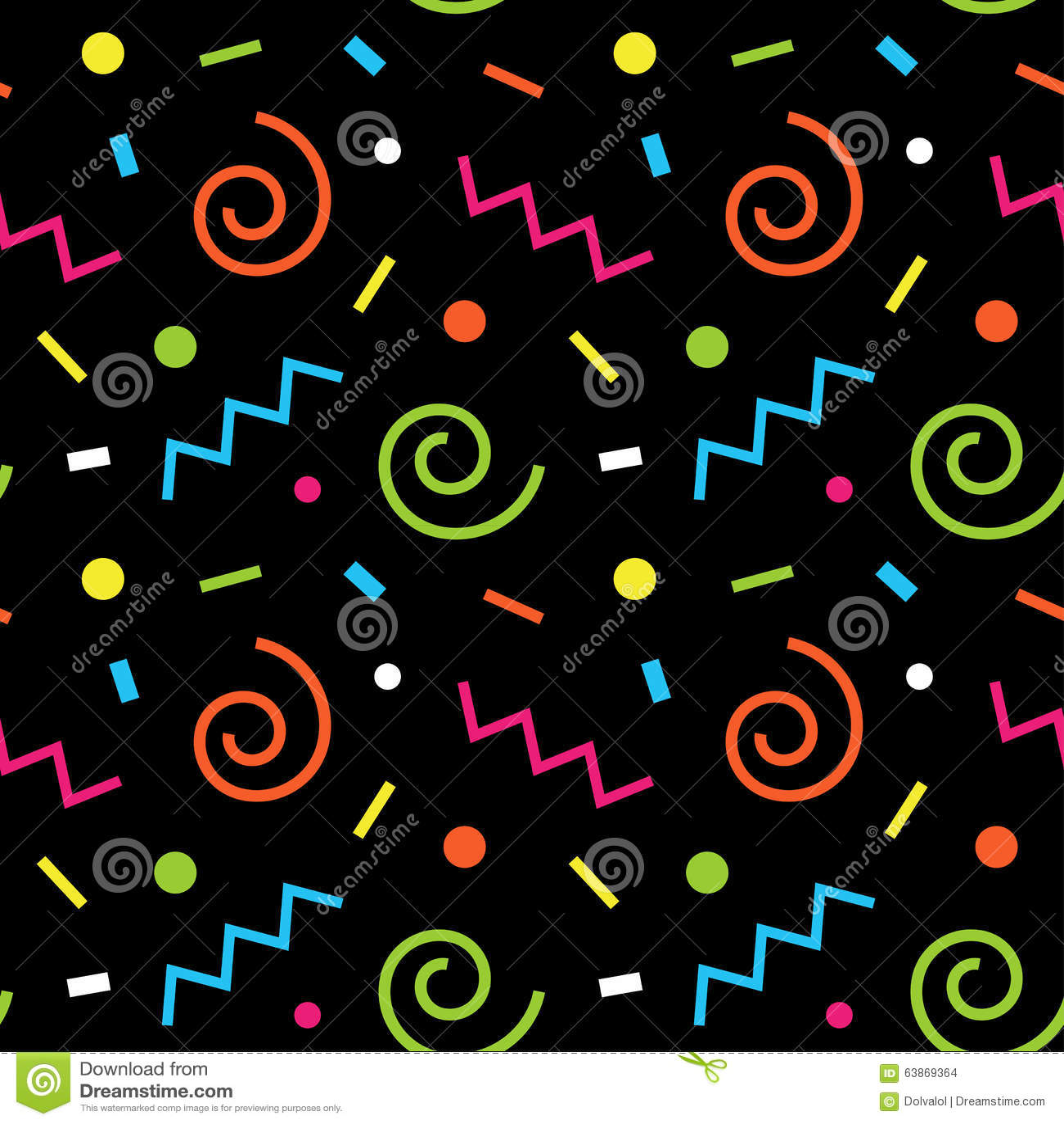 seamless background 80s stock illustration image 63869364