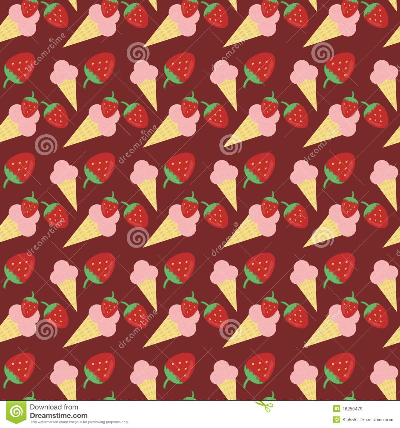 Seamless Ice Cream Wallpaper Royalty Free Stock Images: Seamless Background With Strawberry Ice Cream Royalty Free