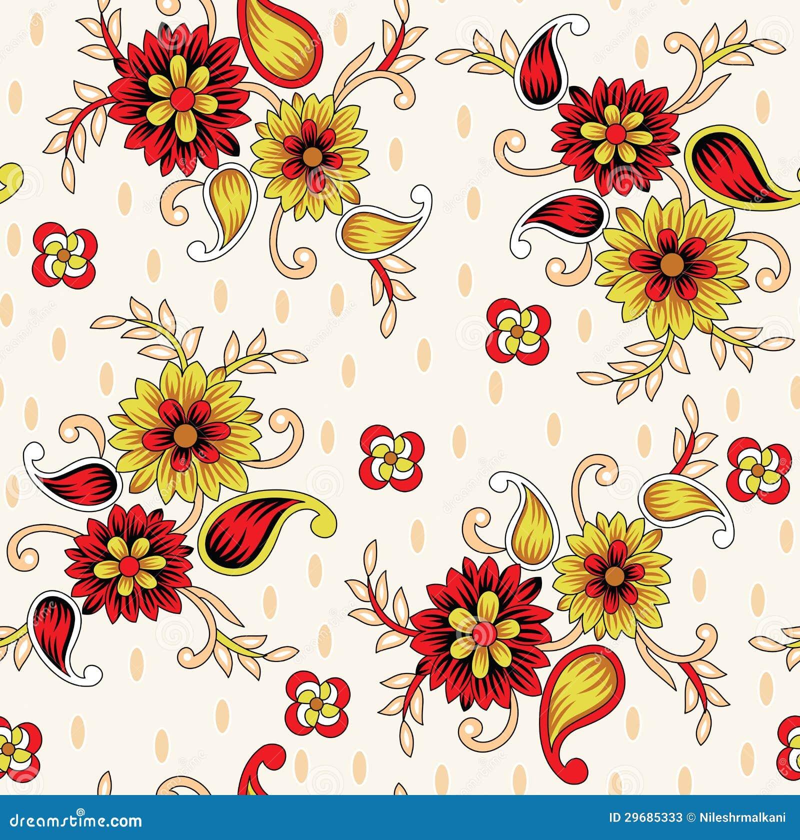 Royal Kitchen Design Seamless Background For Textile Fabrics Stock Photos