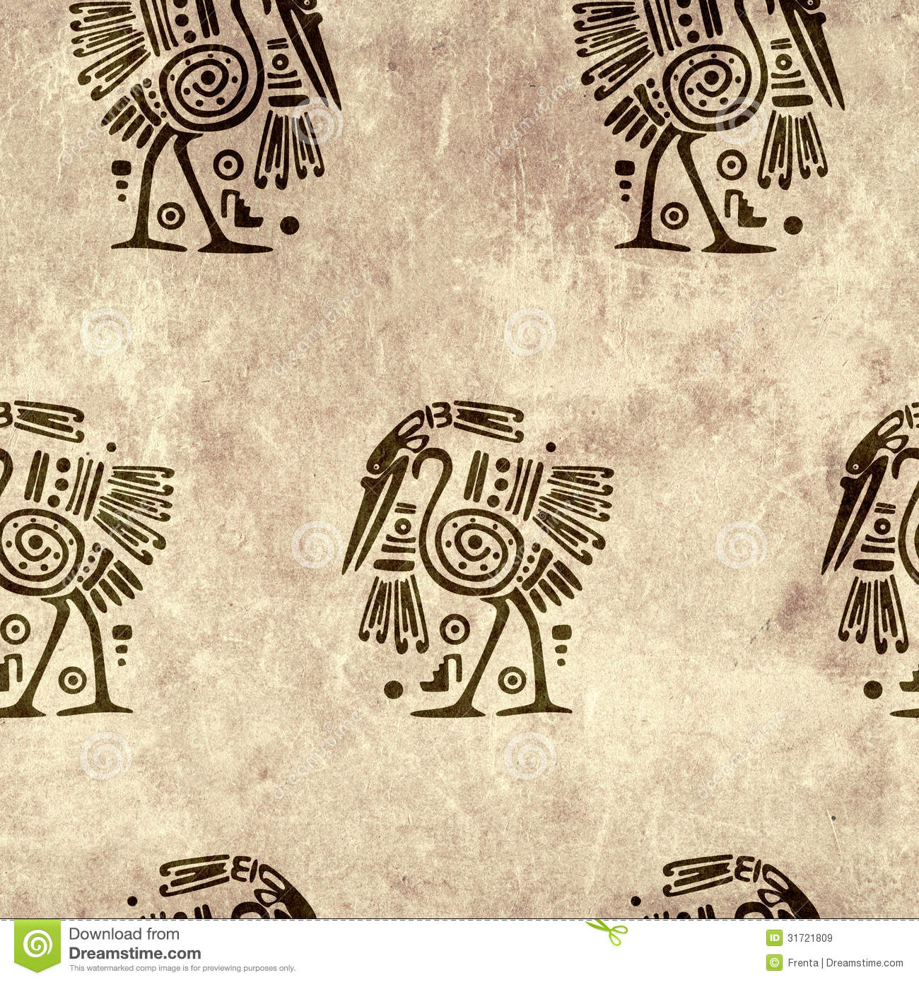 Seamless Background With Traditional Patterns Royalty Free ...
