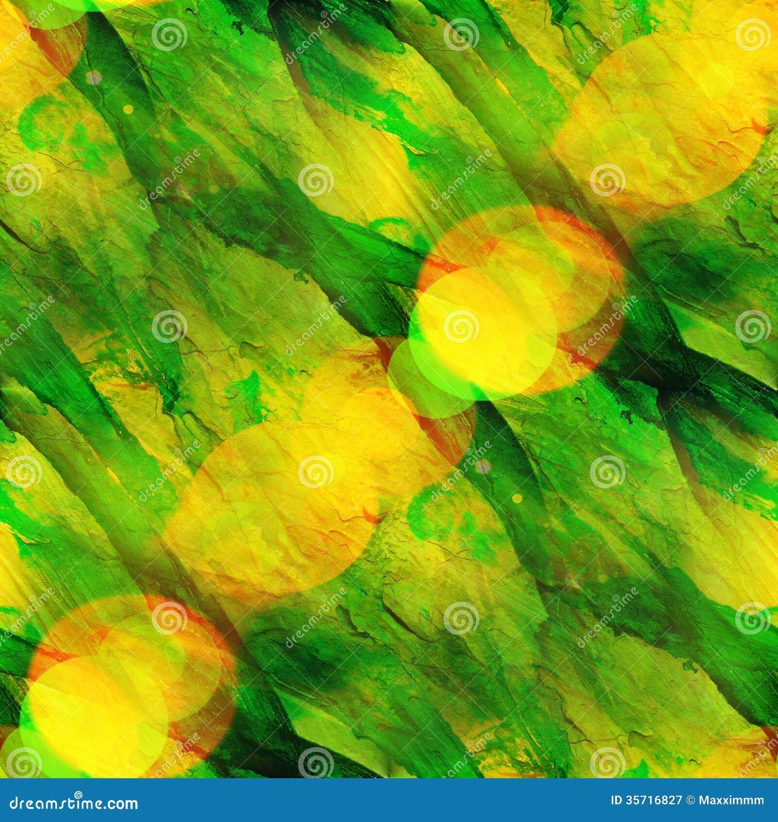 abstract yellow green drawing - photo #14