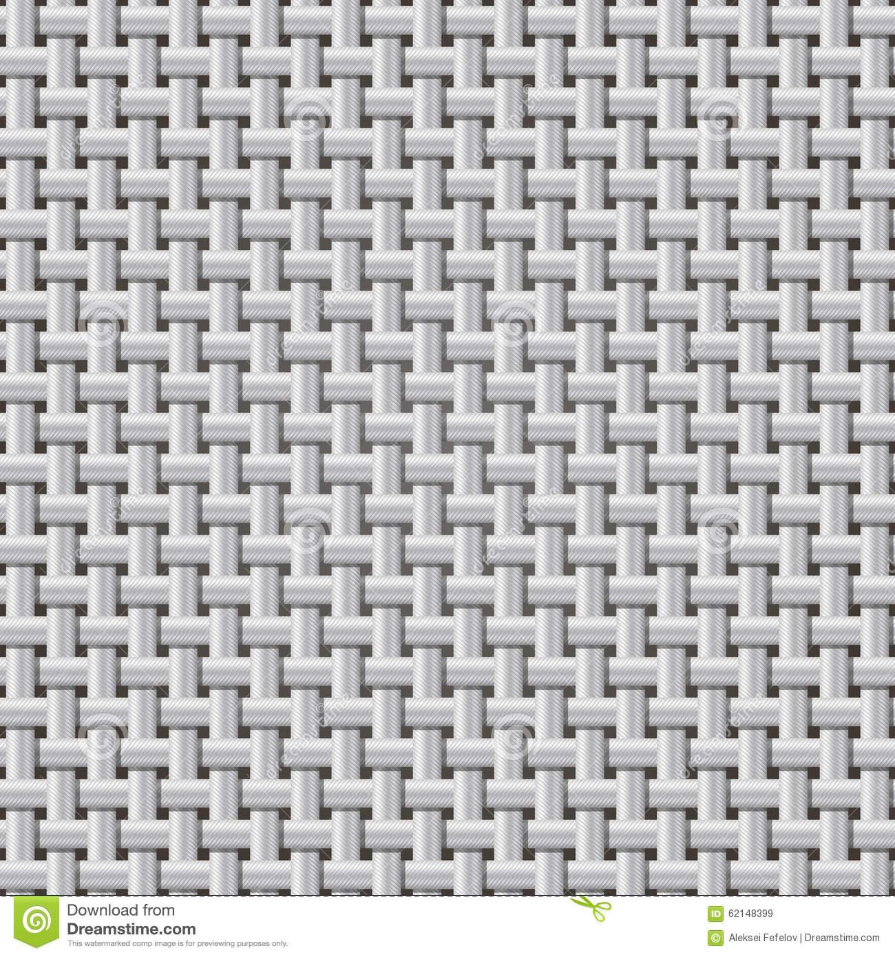 Seamless Background Weaving Ribbed Metal Wire. Illustration 62148399 ...