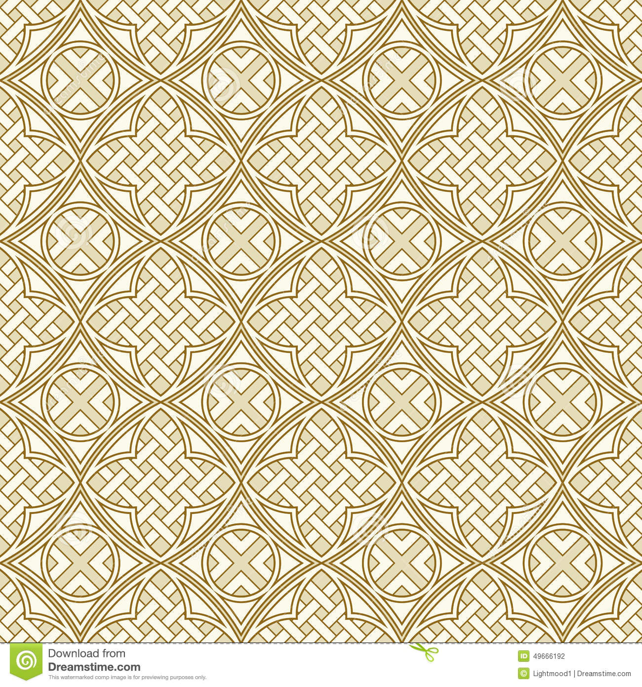 Seamless Backgrounds Of Medieval Style Stock Vector