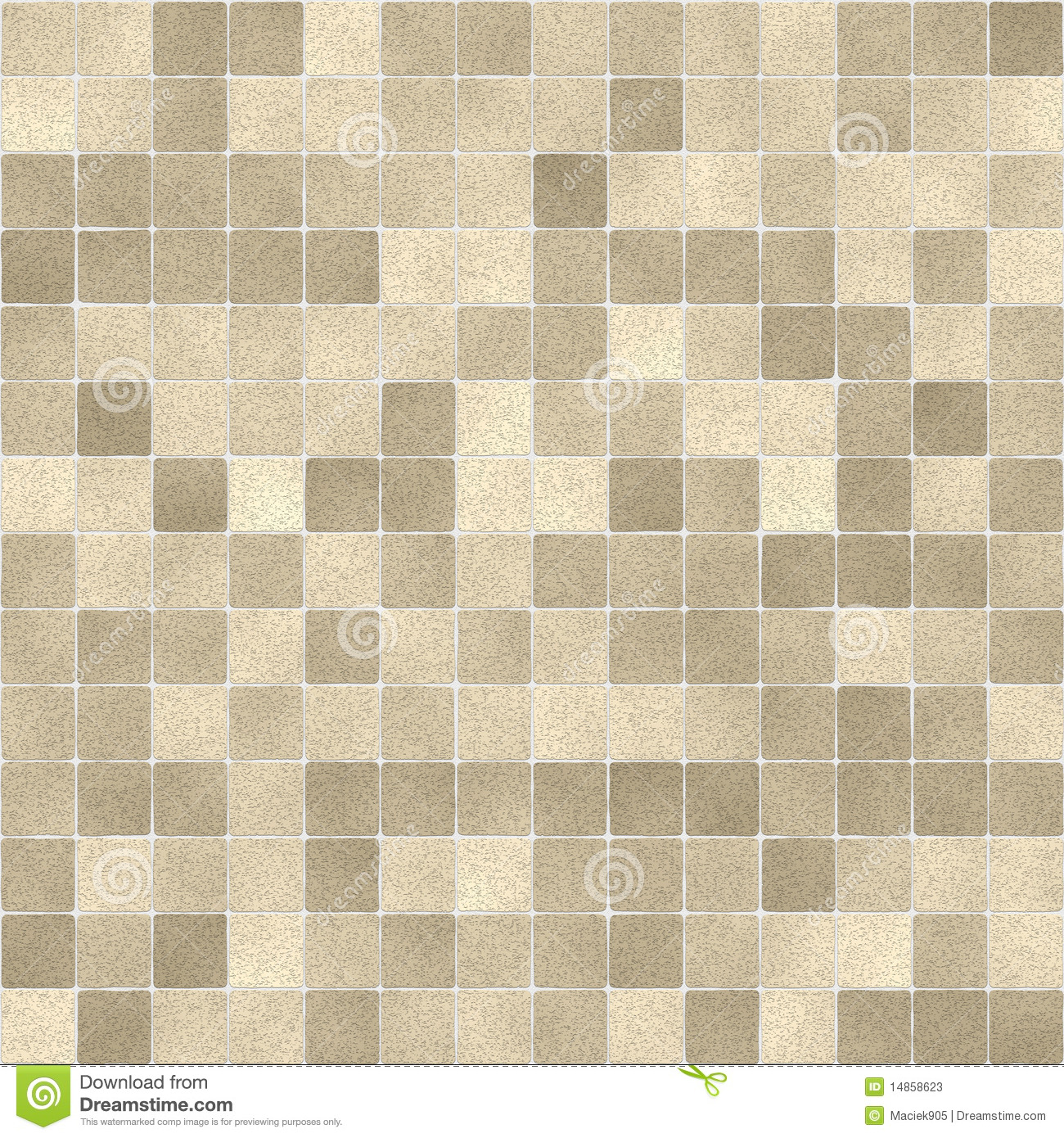 Seamless Bathroom Tiles Pattern Stock Illustration Image 14858623