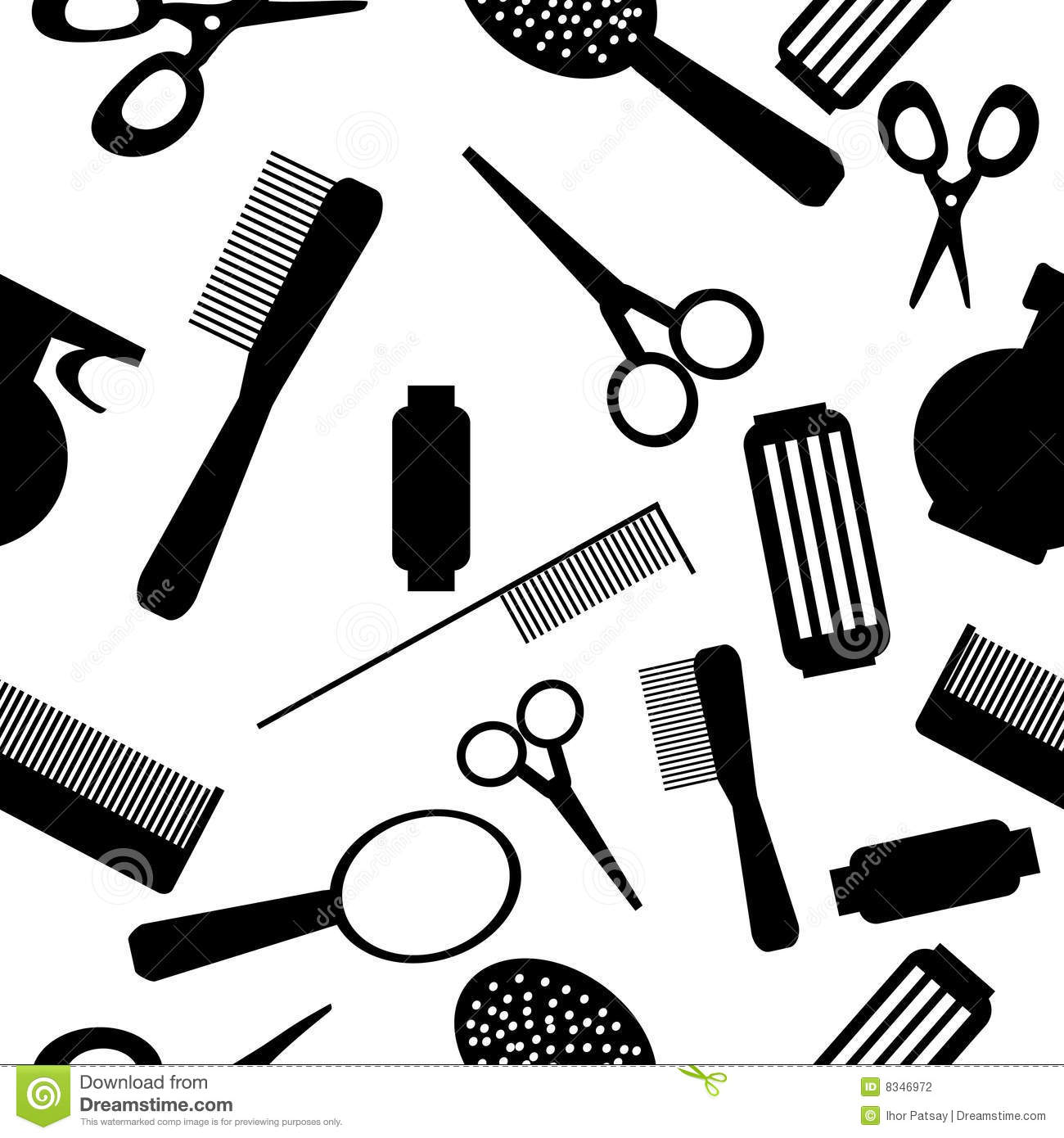Salon Tools Clipart