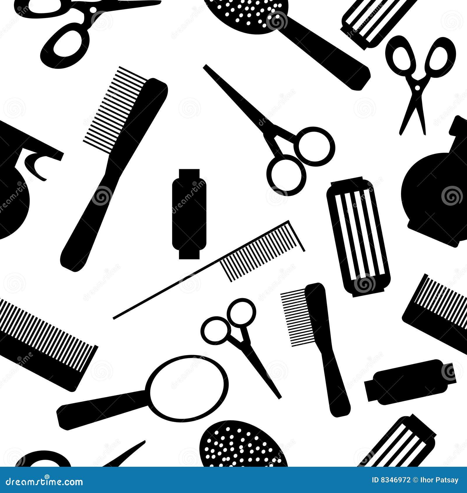 Seamless beauty salon pattern