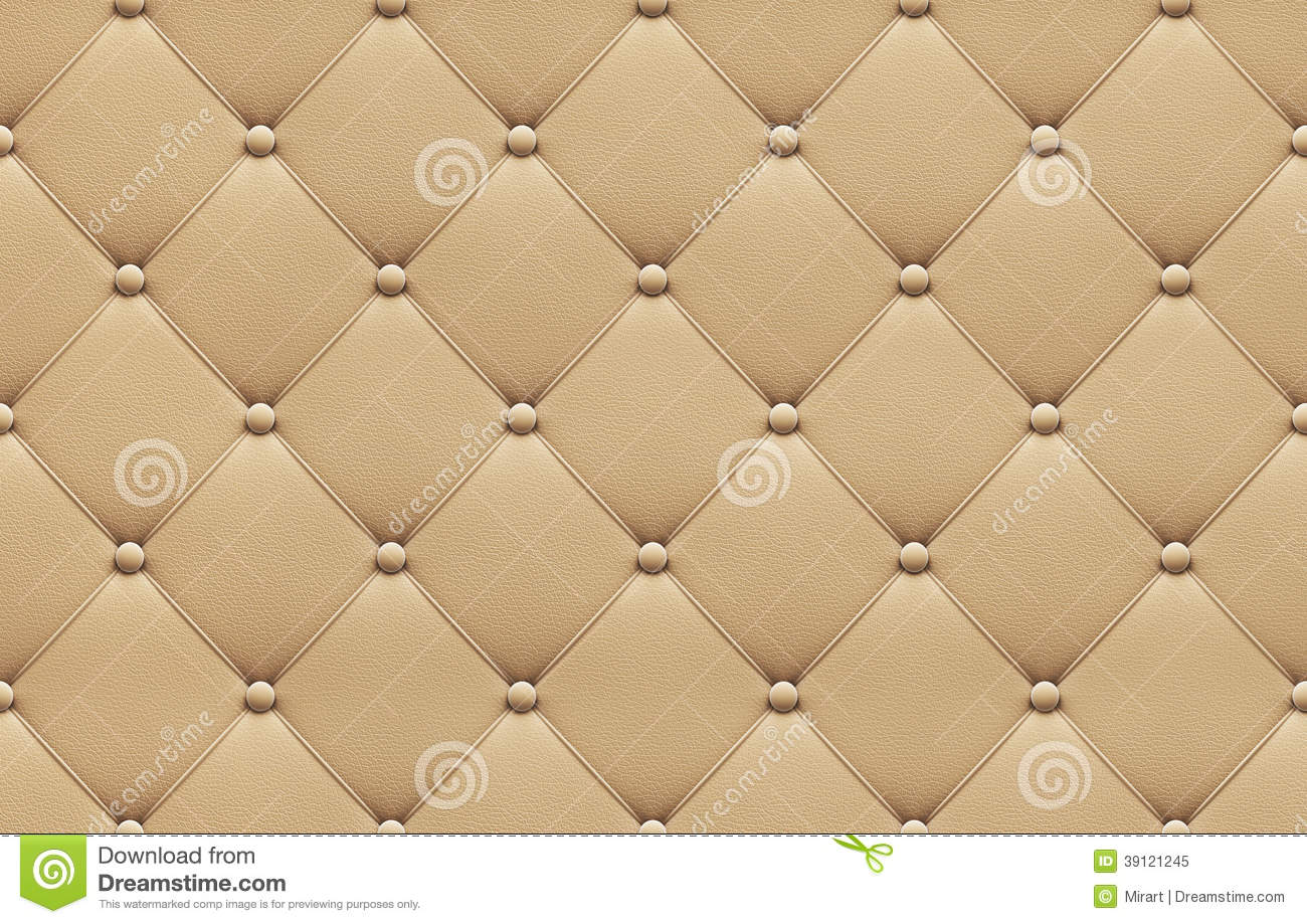 Seamless Beige Leather Upholstery Pattern Stock