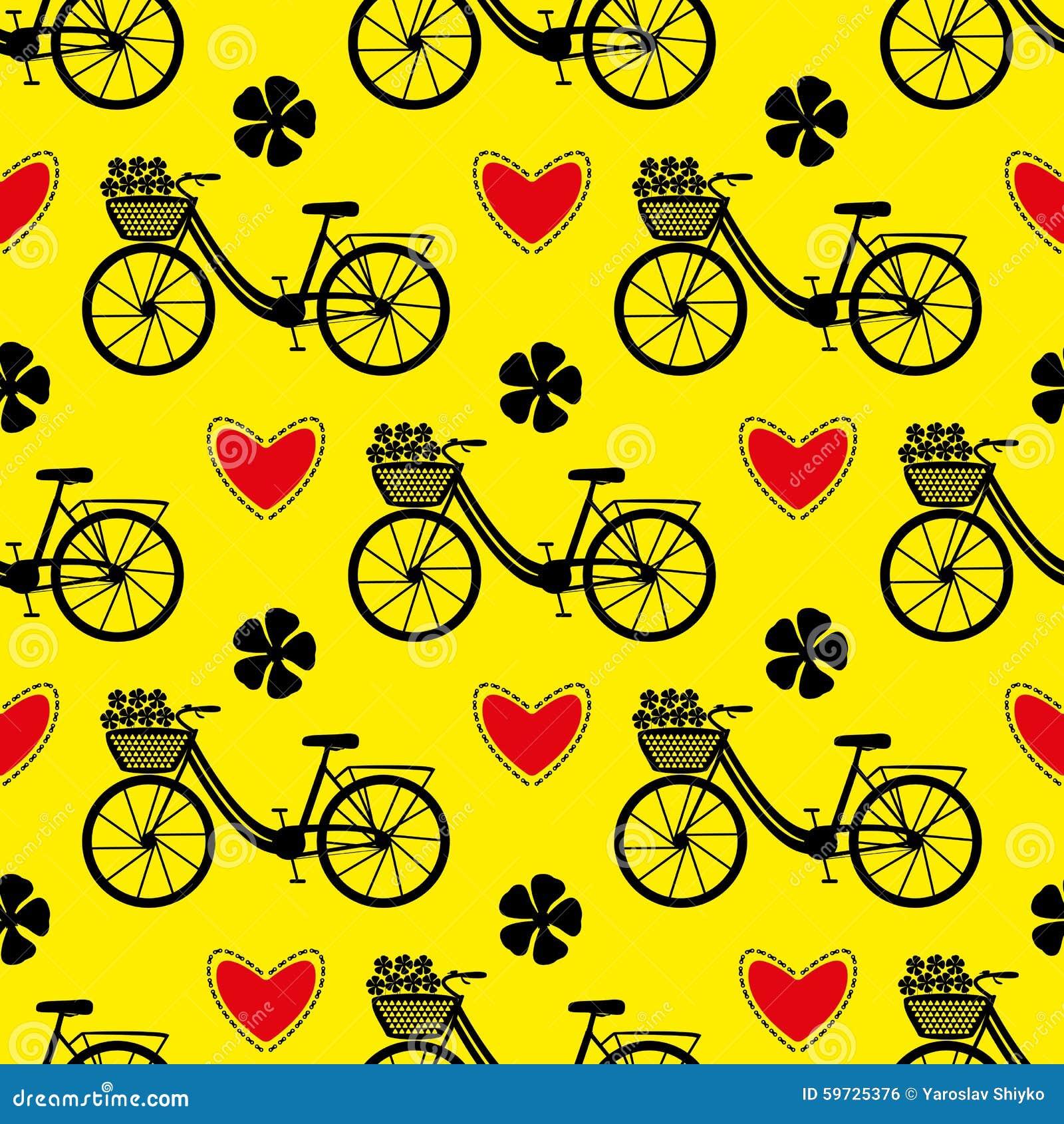 Seamless bicycle pattern.
