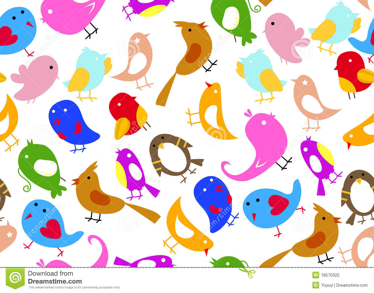 seamless bird wallpaper stock vector. illustration of pattern - 18570325