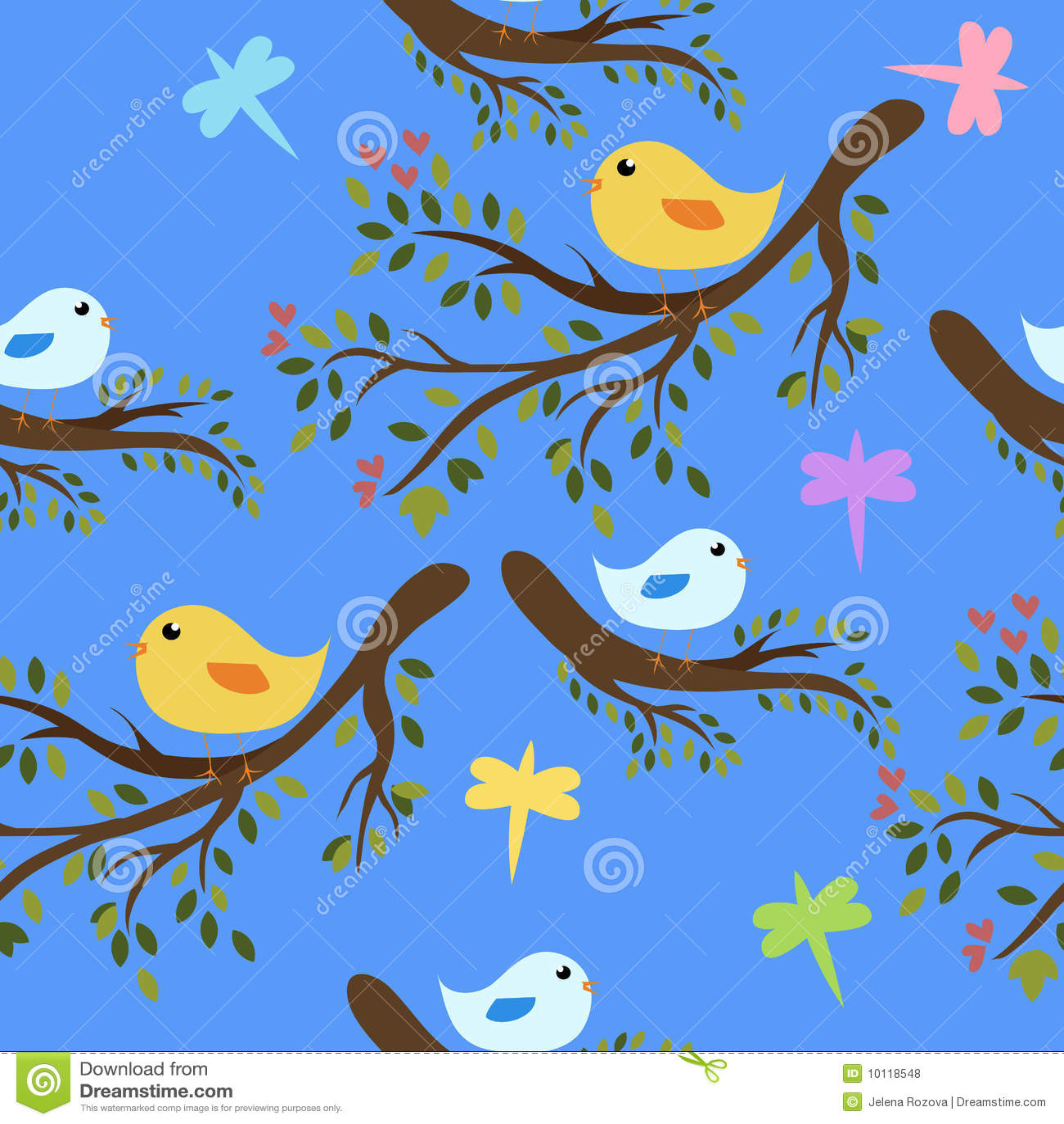 Seamless birds background