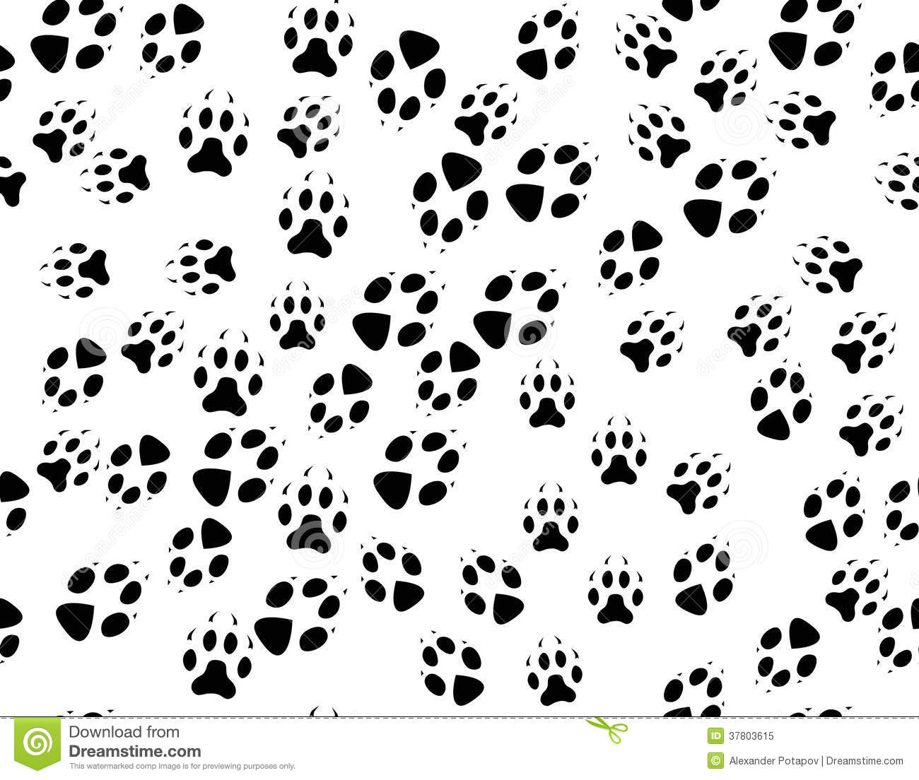 Seamless Black Background From Animals Tracks Stock Vector ...