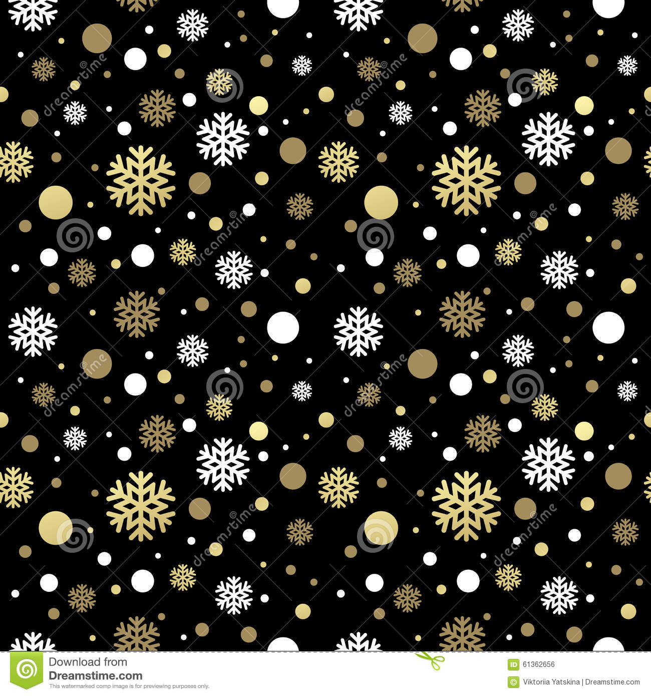 Seamless Black Christmas Wallpaper With White And Stock Vector ...