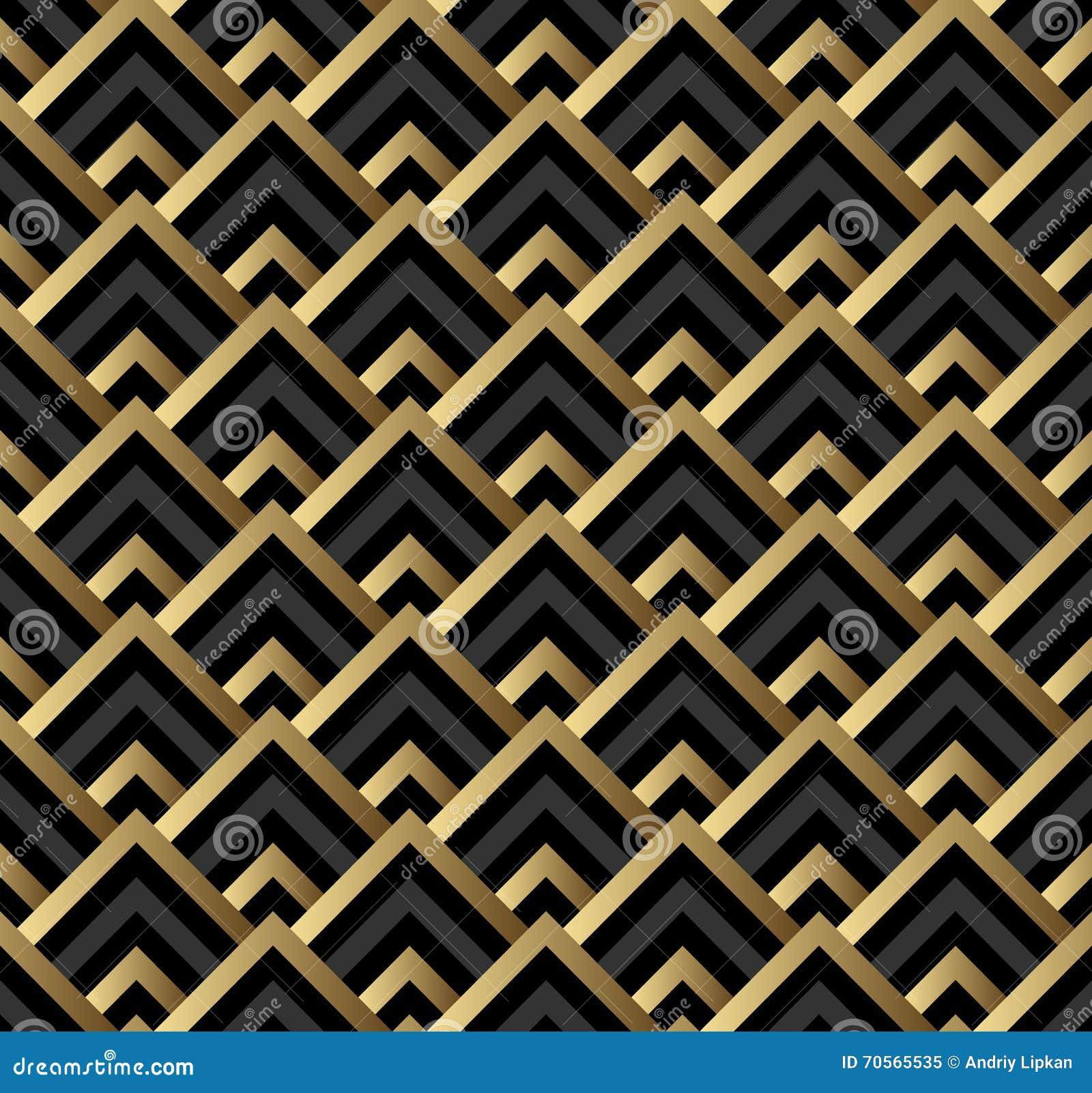 seamless black and gold square art deco pattern stock illustration illustration of design. Black Bedroom Furniture Sets. Home Design Ideas