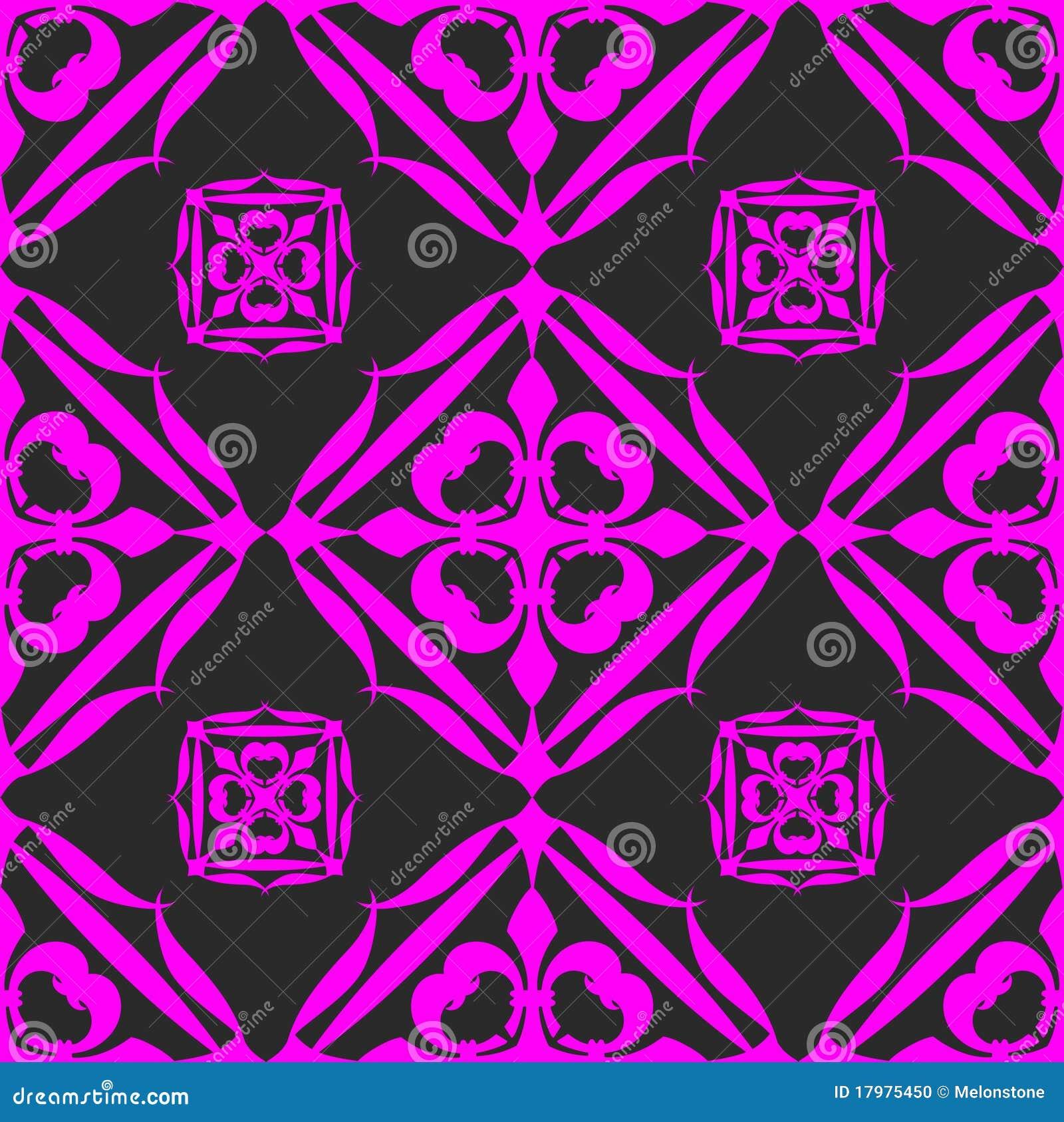 Wallpaper Black Pink: Seamless Black Pink Wallpaper Stock Illustration