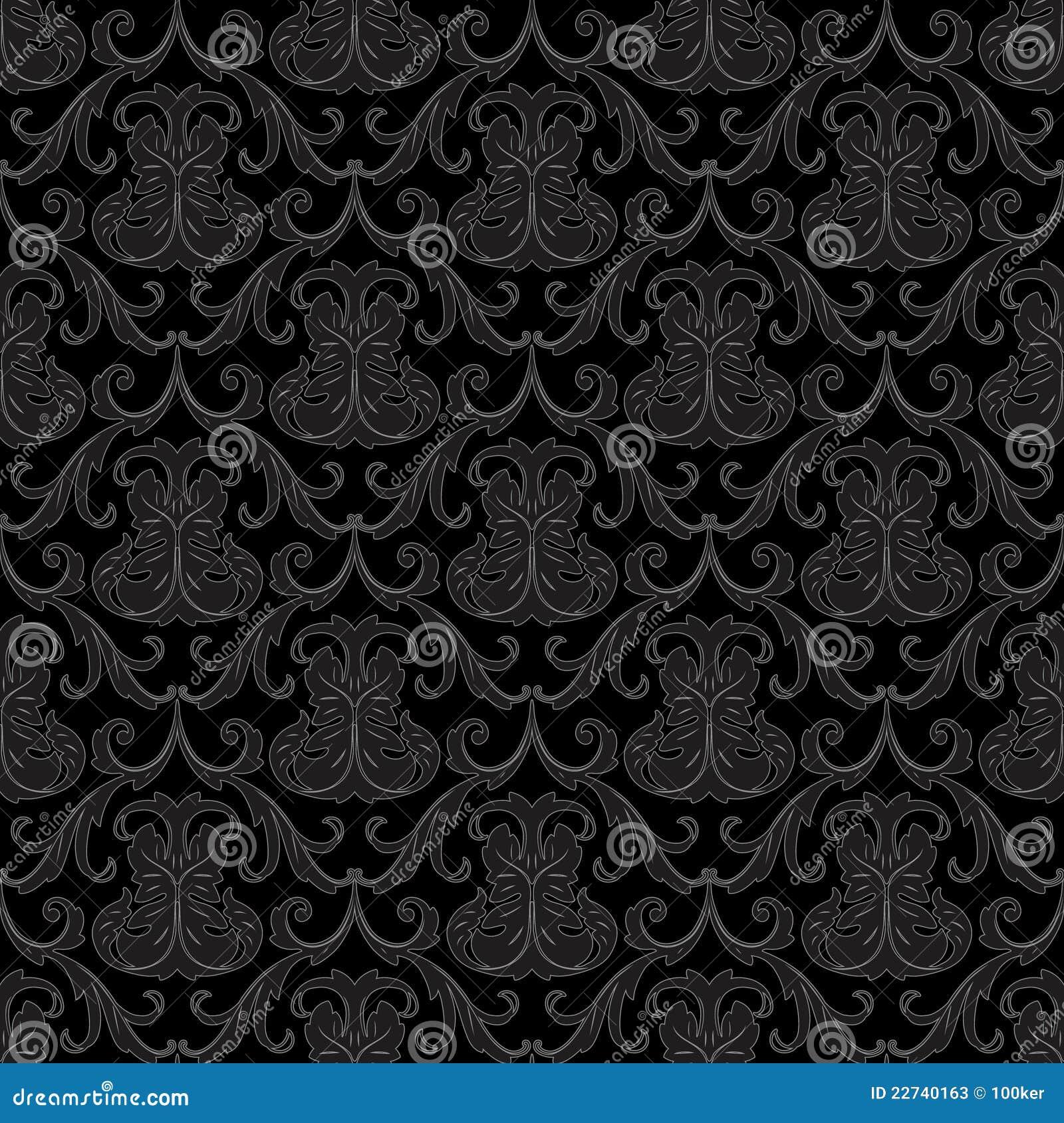 seamless black wallpaper pattern 22740163