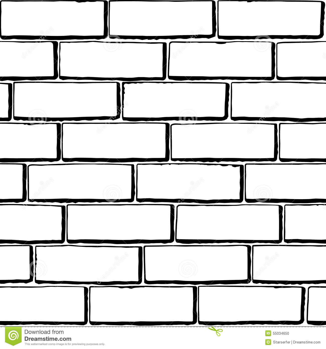 Seamless Black White Brick Texture
