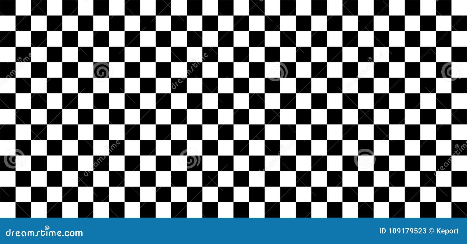 Seamless Checkered Black And White Background Stock Illustration