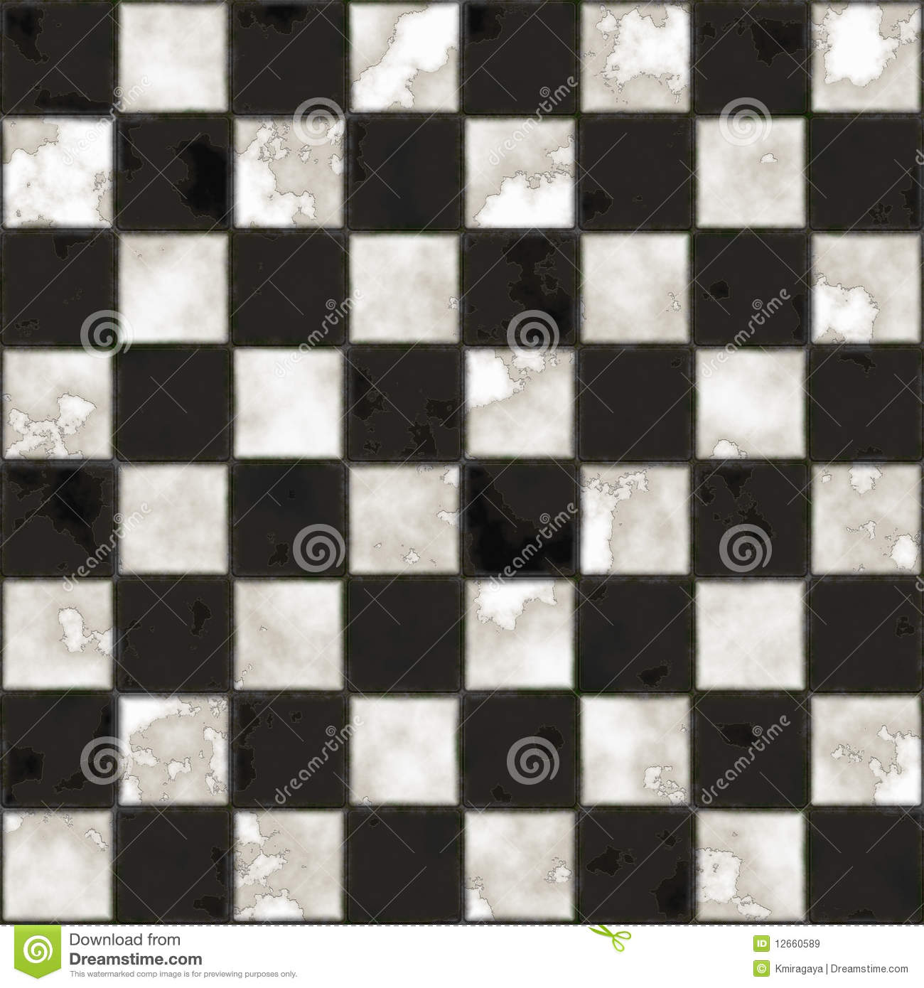 Seamless Black And White Checkered Texture Stock Image