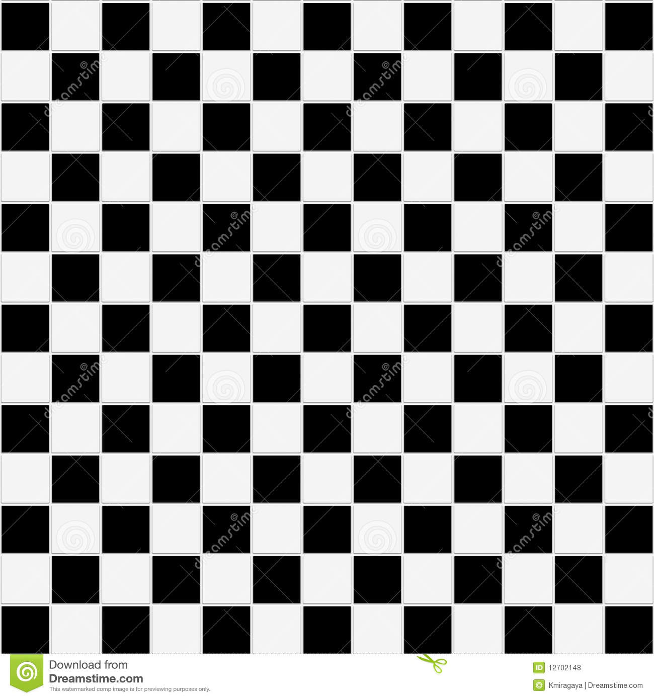 Seamless Black And White Checkered Texture Royalty Free