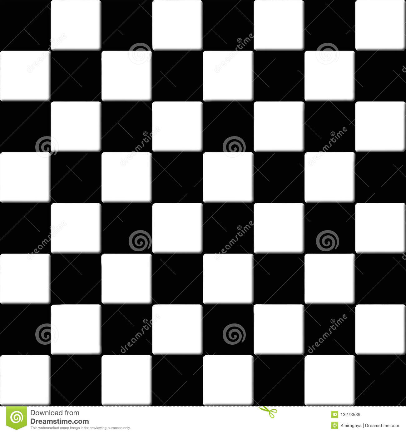 Seamless Black And White Checkered Tiles Royalty Free