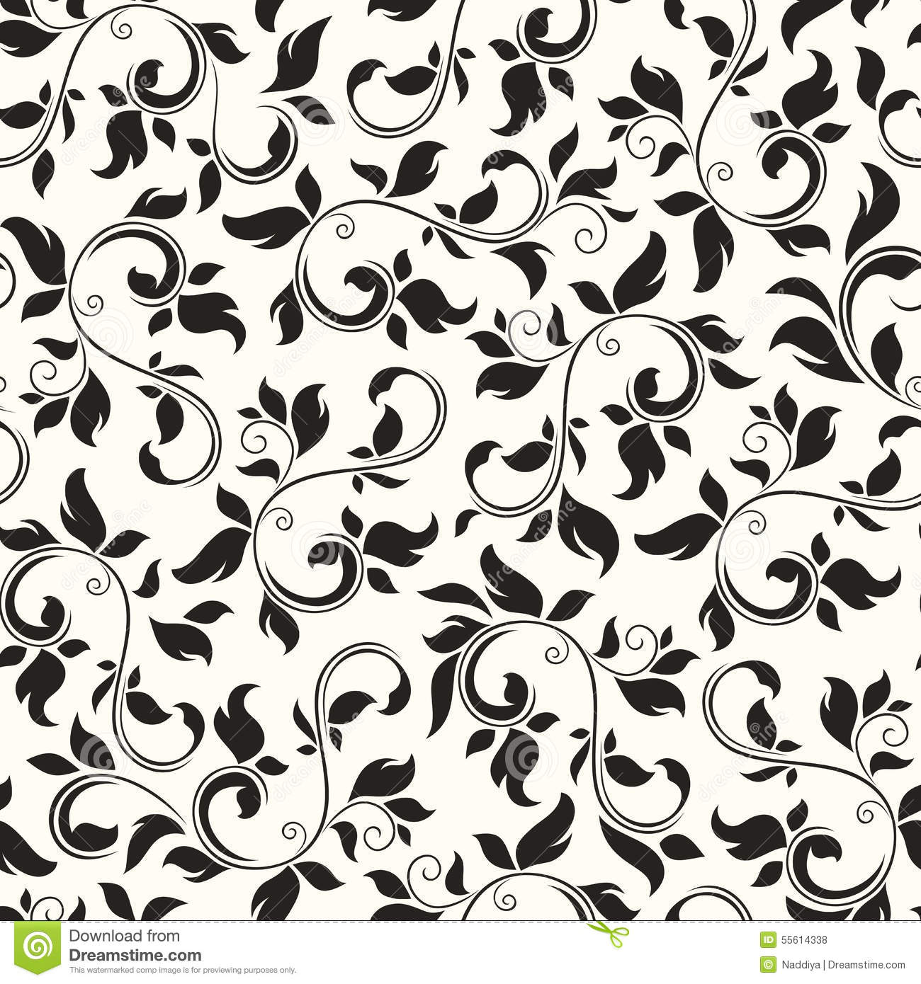 Black Flower Pattern Stock Images