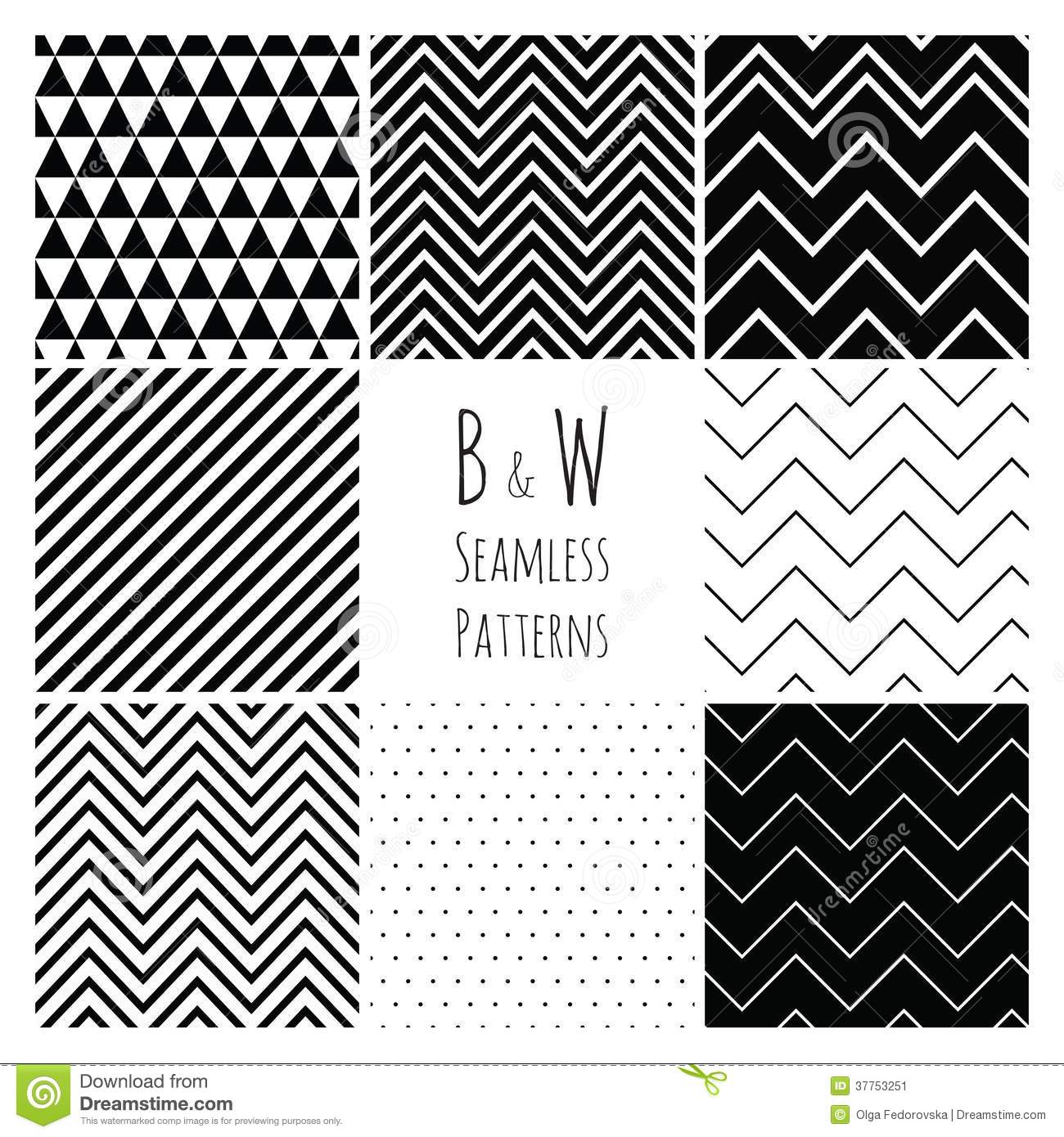 Cute Scrapbook Paper Patterns Seamless Black And Whi...