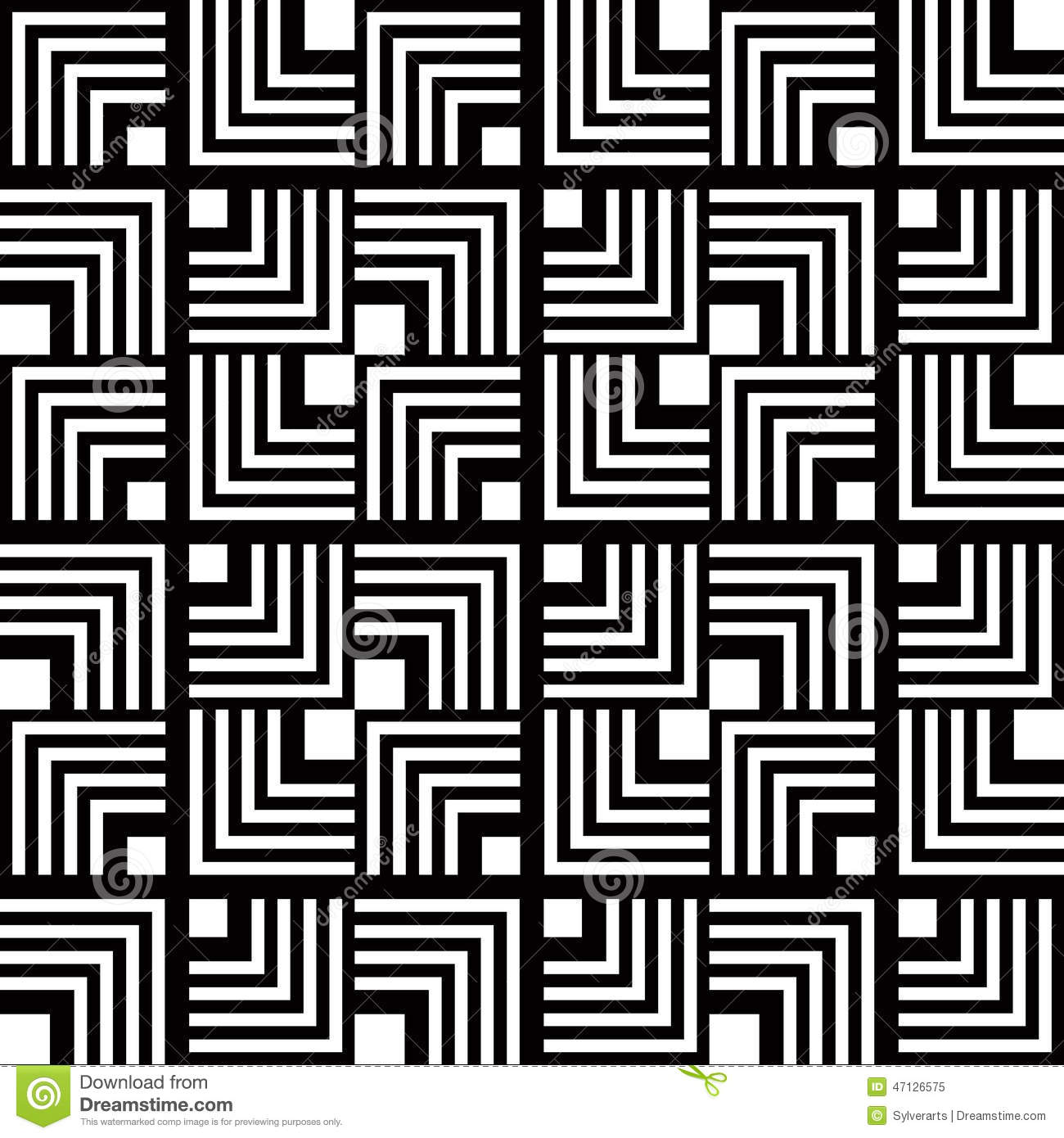 seamless black and white geometric pattern, simple vector stripe