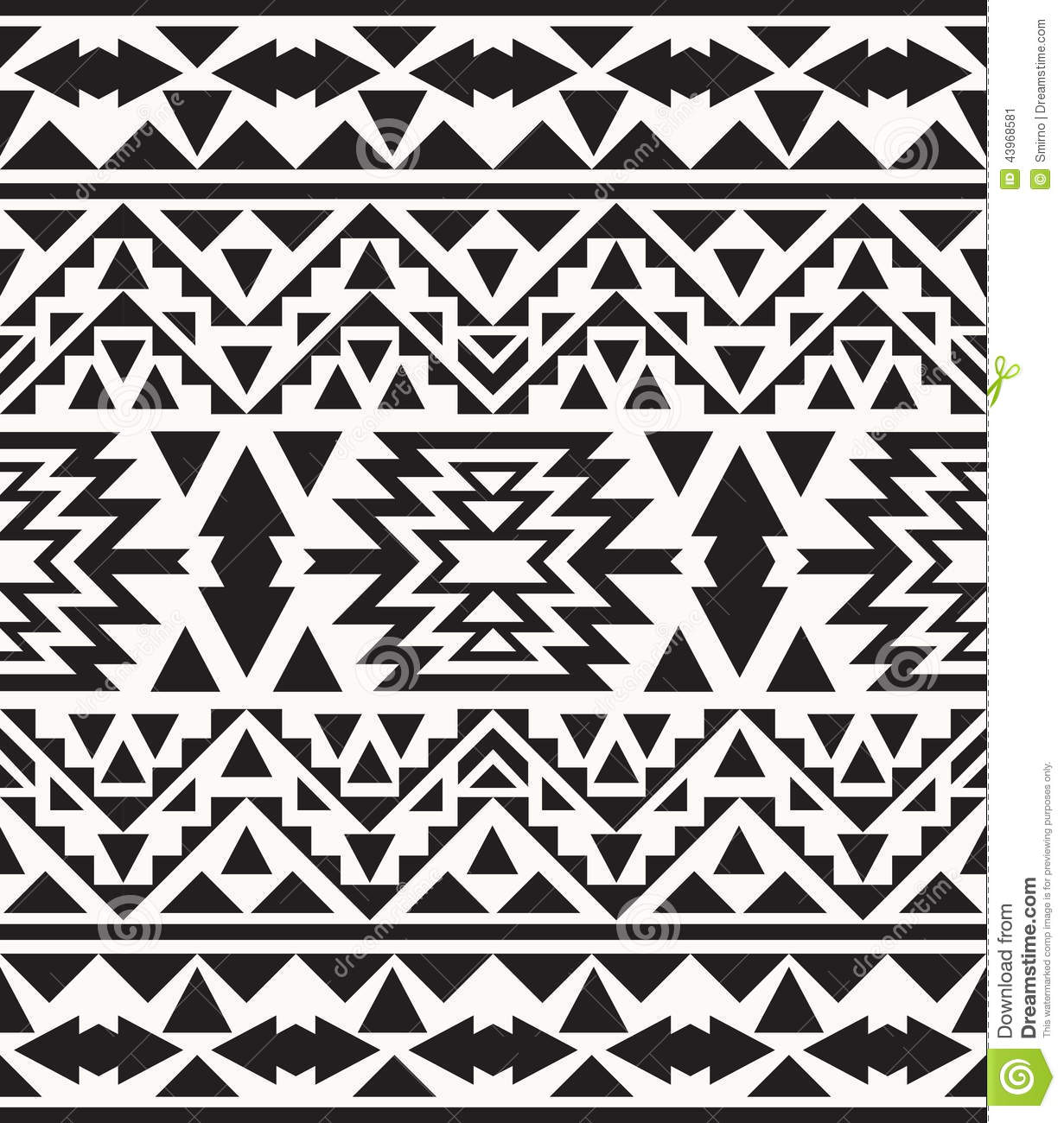 black and white native american patterns and designs