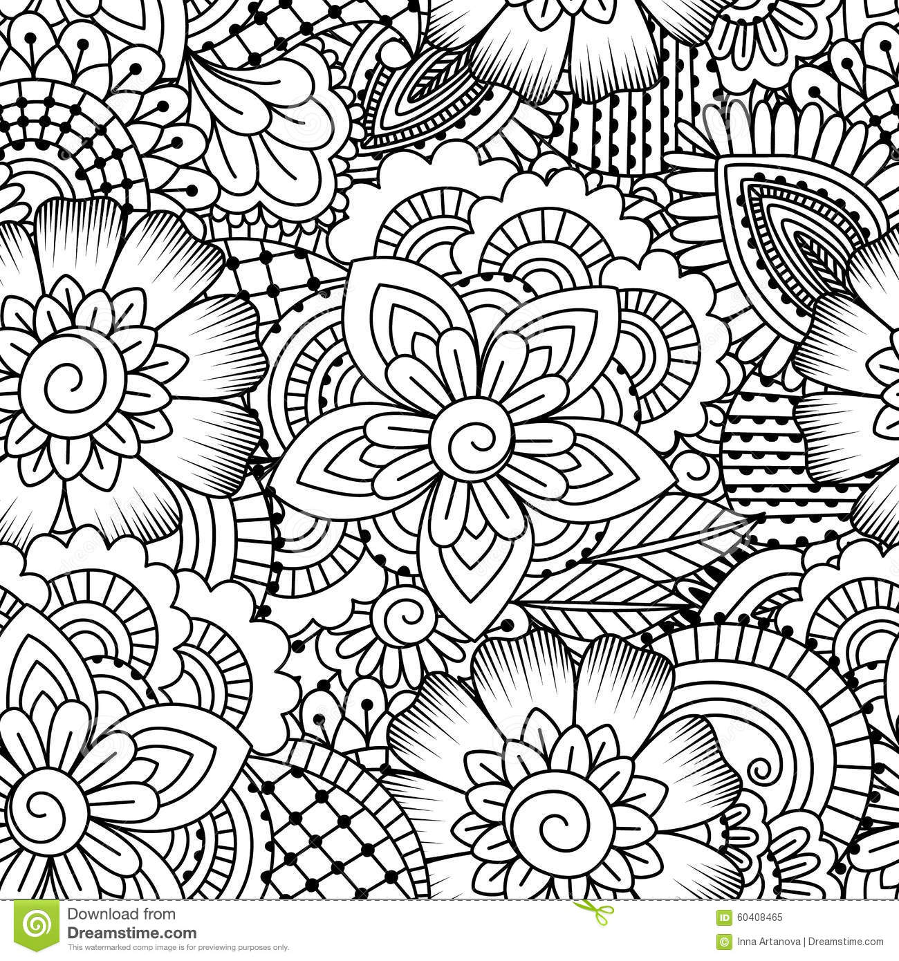 Seamless Black And White Pattern. Stock Vector ...  Seamless Black ...