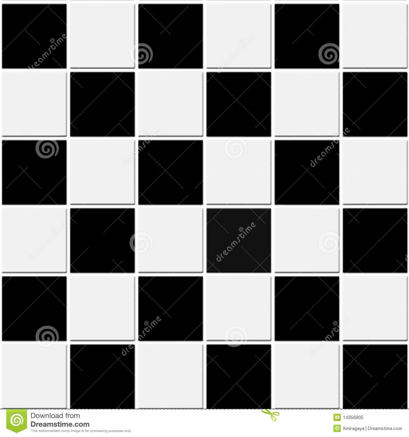 vasarely_2_0 Black And White Checkered Kitchen Rug
