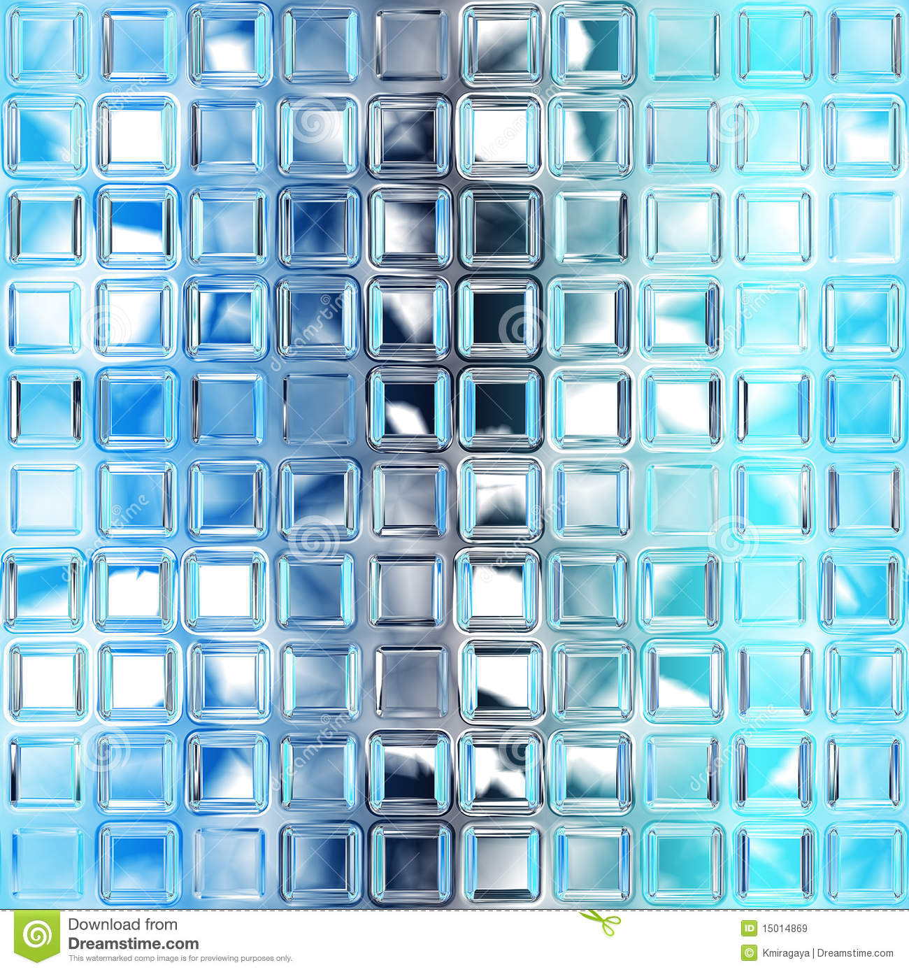 Seamless Blue Glass Tiles Texture Royalty Free Stock