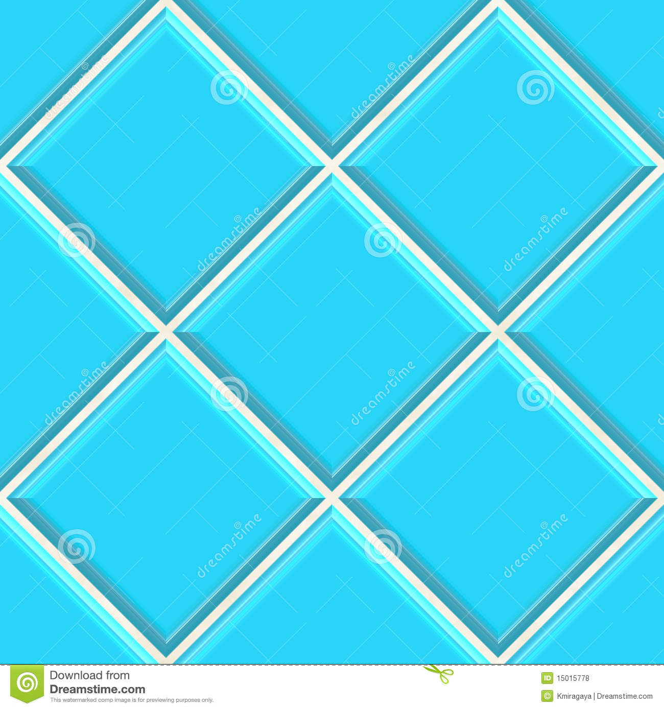 Seamless Blue Tiles Texture Background Royalty Free Stock