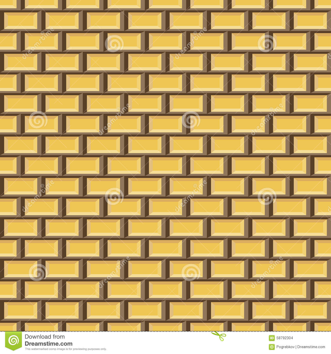 Seamless Brick Pattern In Yellow And Brown Colors Stock Vector ...