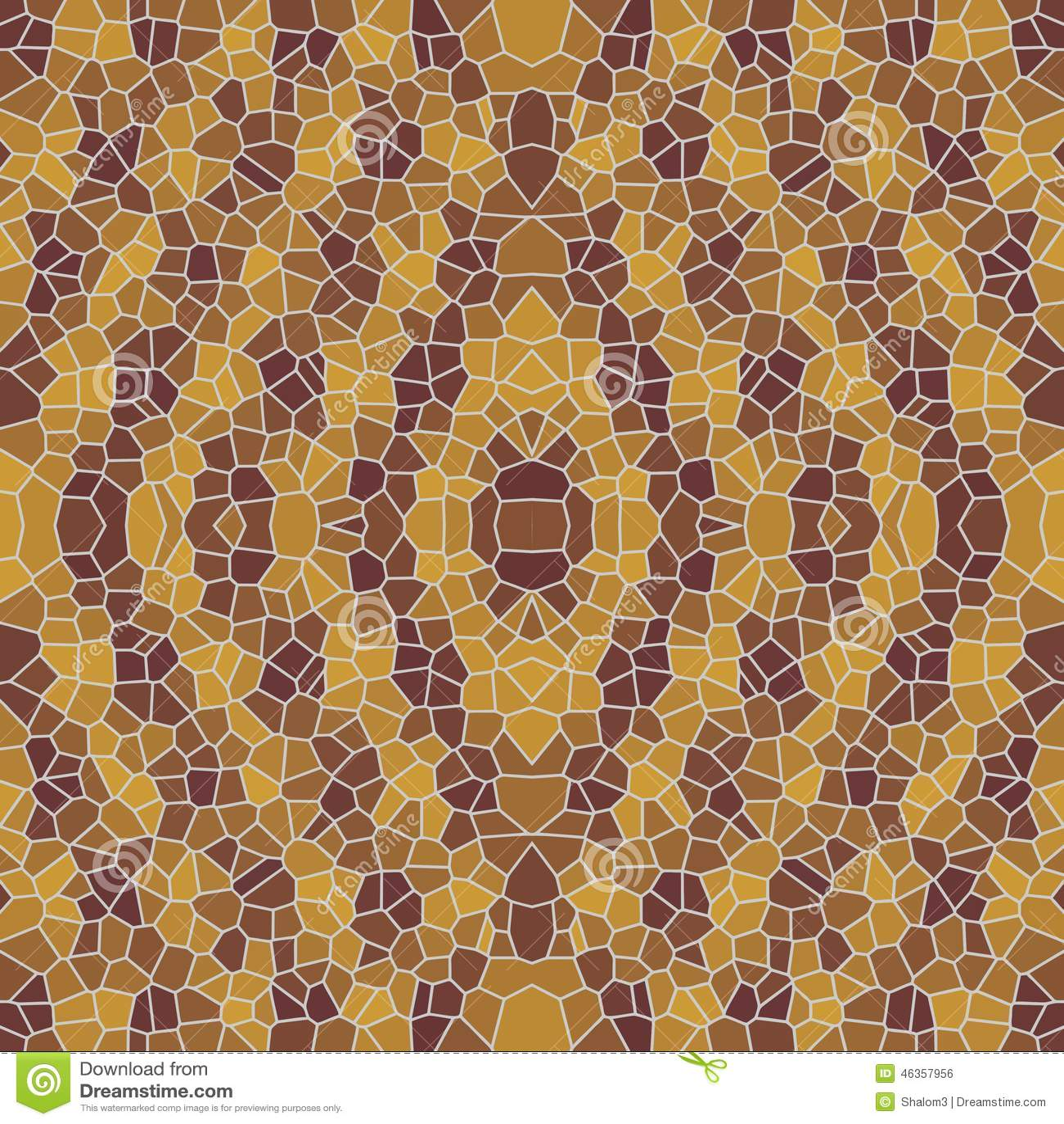 Seamless Brown Mosaic Patterns Stock Illustration - Image: 46357956